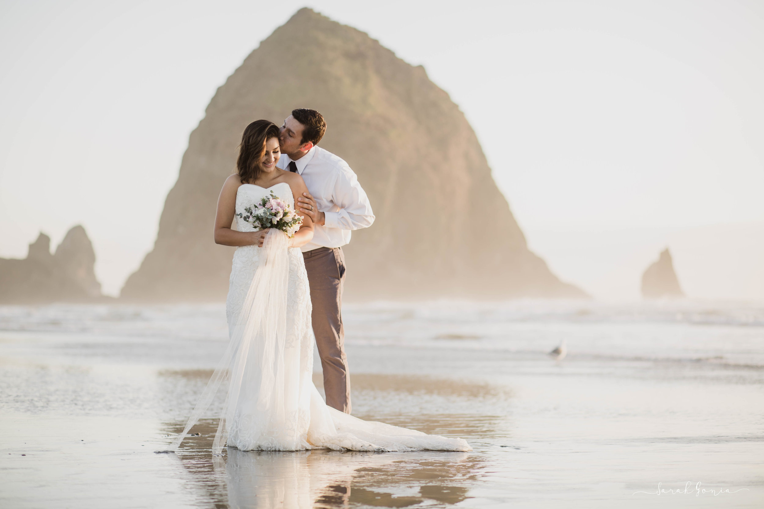 Canon Beach Bridal Session | Seattle Destination Wedding Photographer