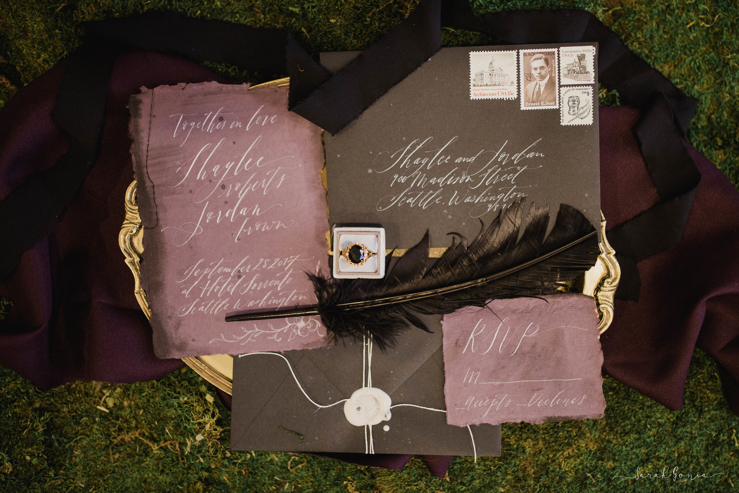 Custom handwritten invitations and Calligraphy by Ink + Sable