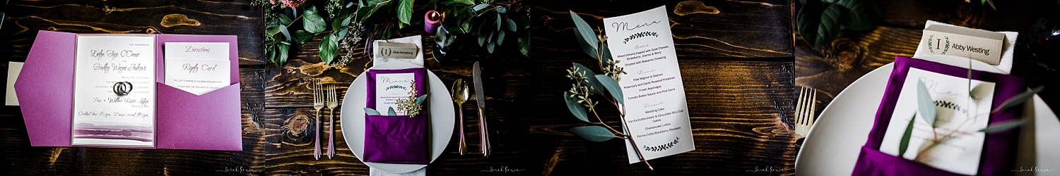 Invitations, Menus and Place Cards by Sandpaper