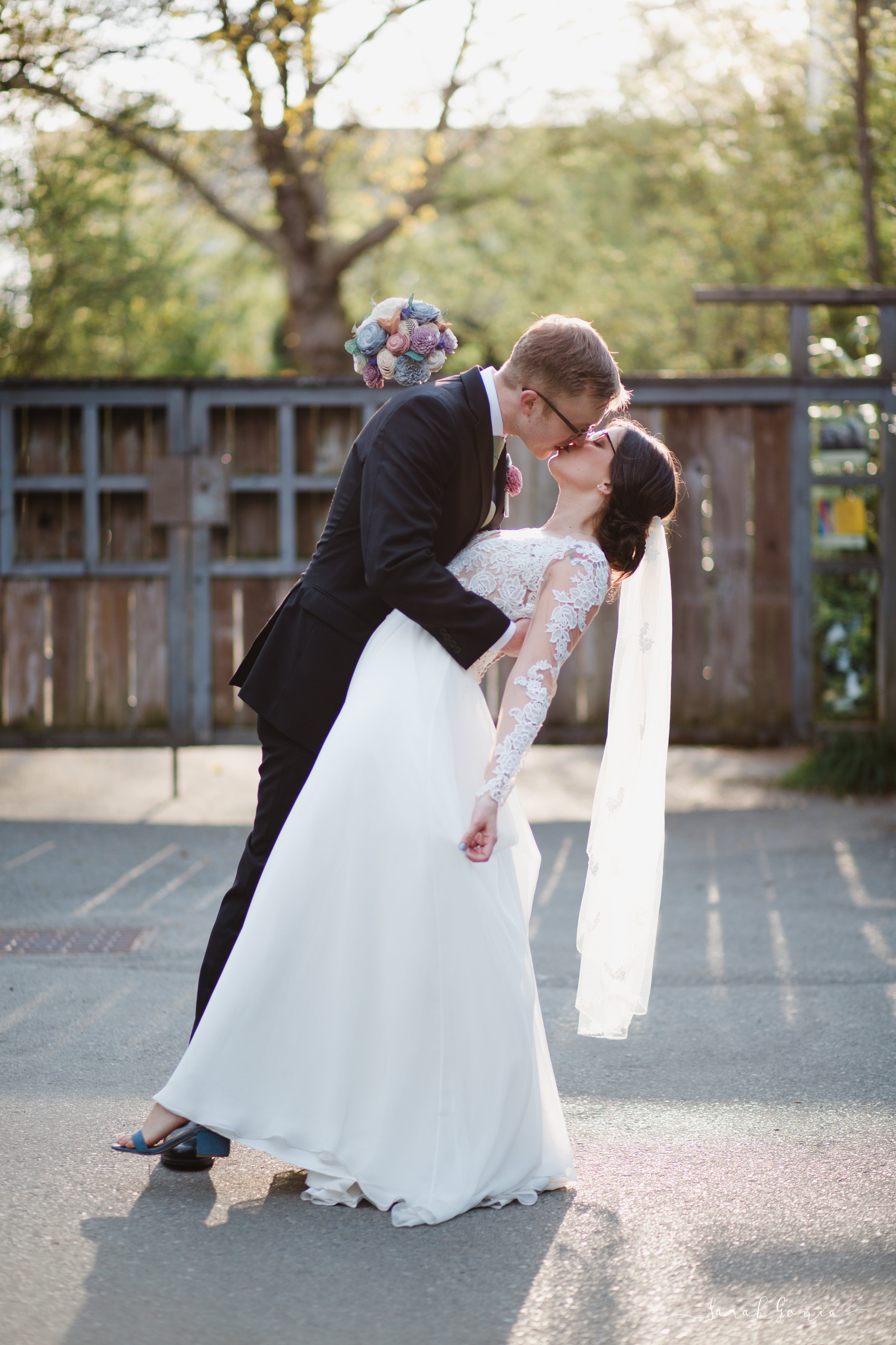 Woodland Park Zoo Wedding Couple | Olympia Wedding Photographer