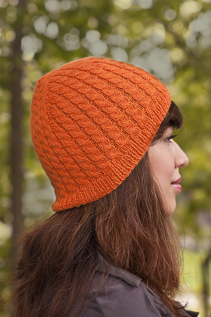 Cabled Crown Hat