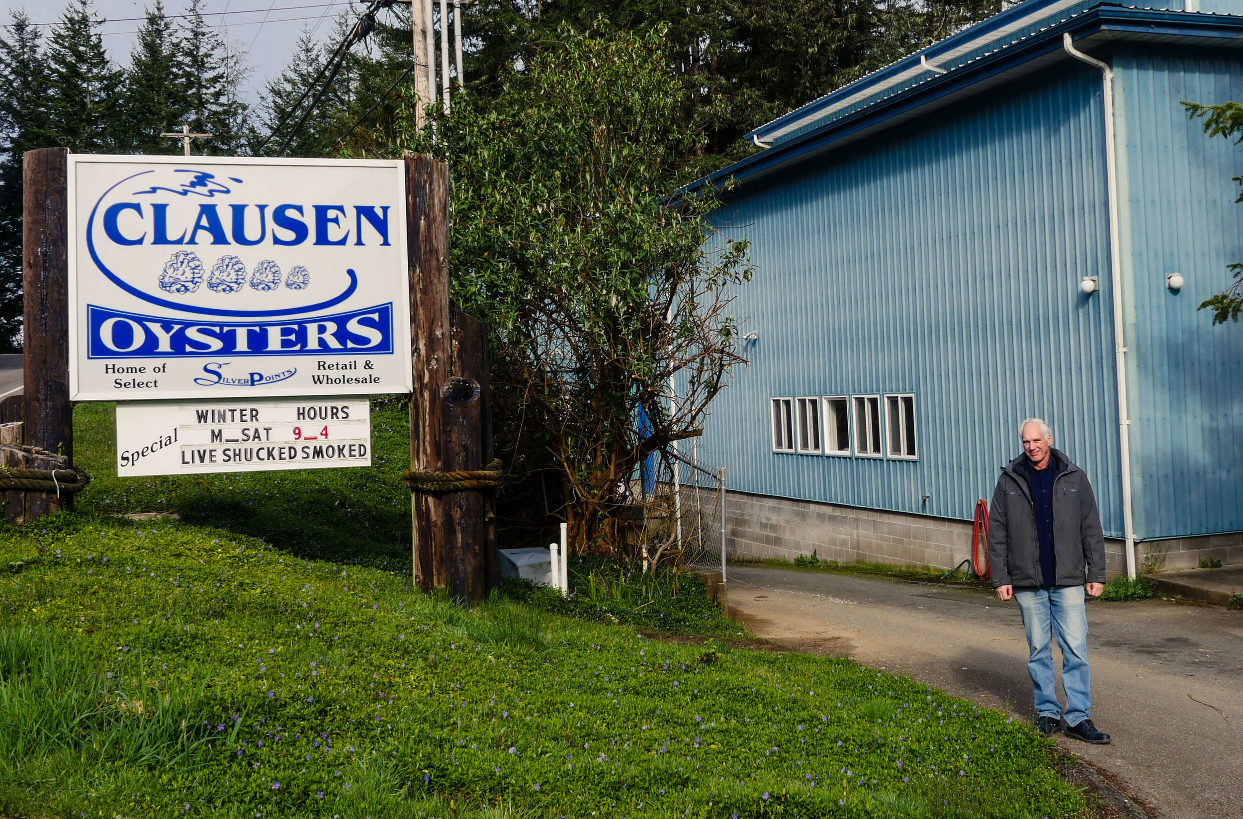 Norm Abell, one of the 4 owners of Clausen's Oysters