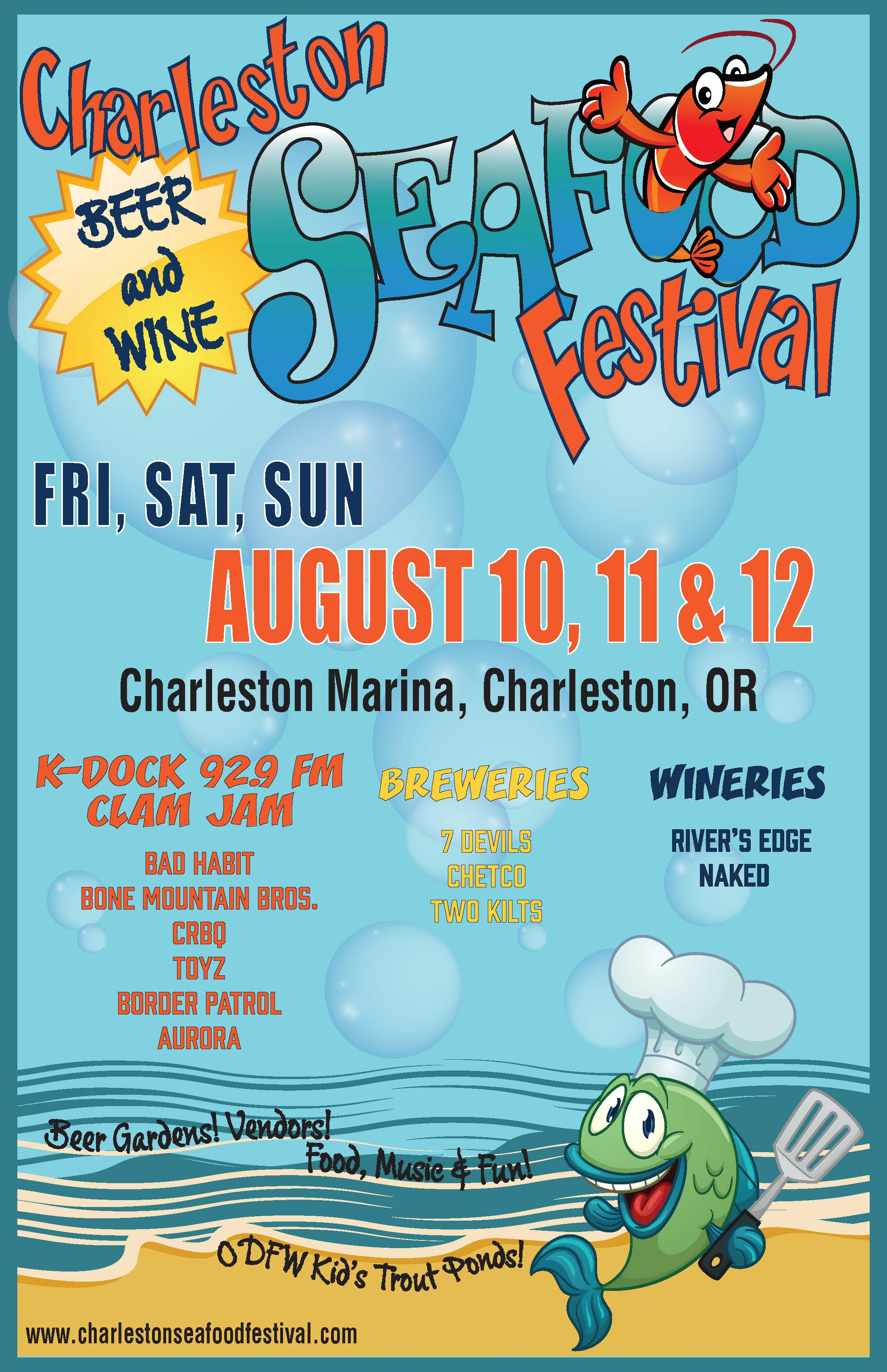 charleston seafood festival poster