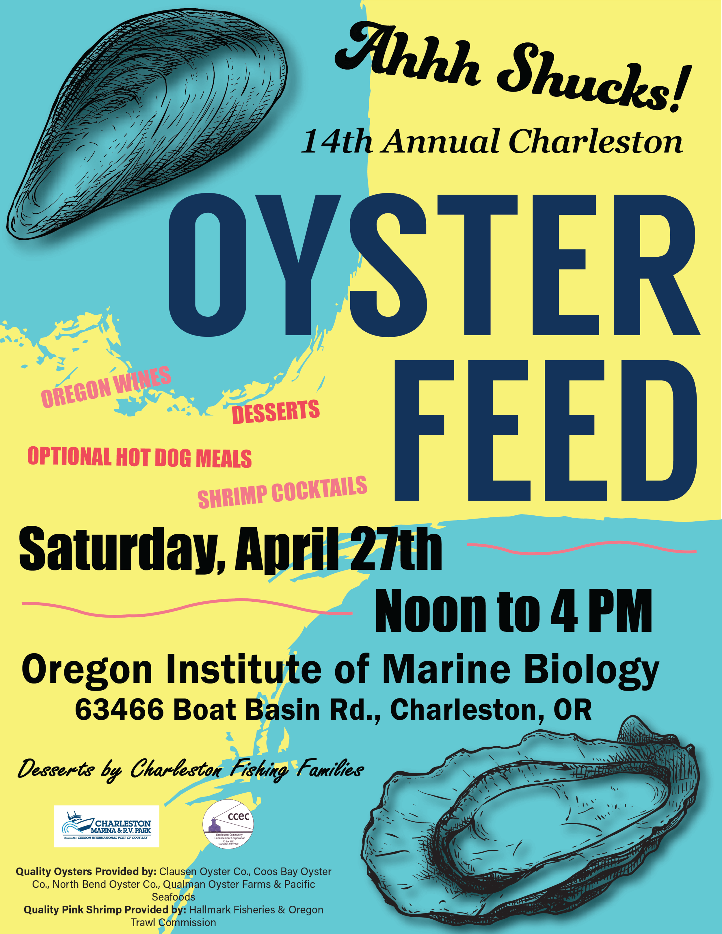 2019 Oyster Feed Poster