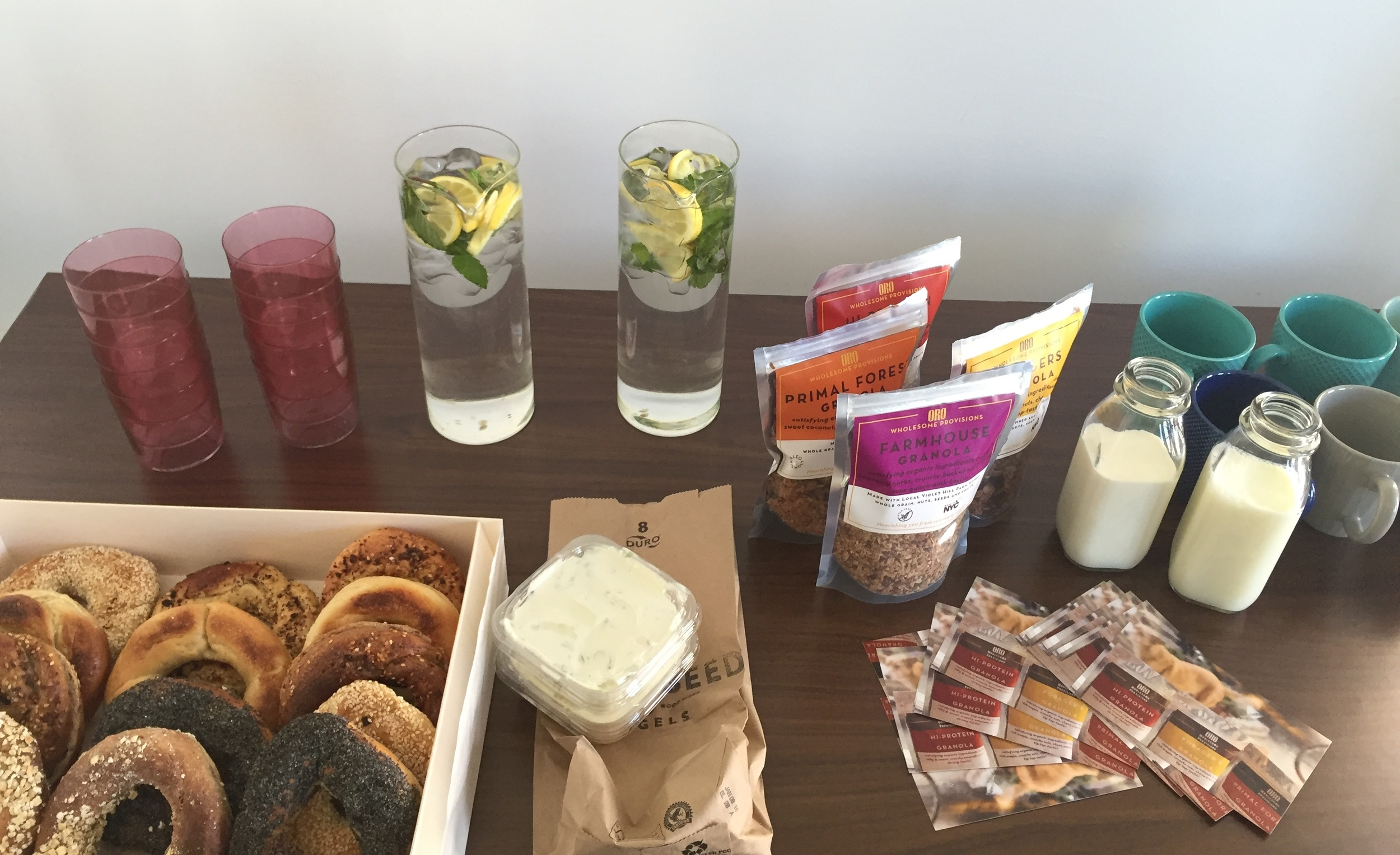 Delicious breakfast from Oro Provisions and BlackSeed thanks to our breakfast sponsor, Vanilla !