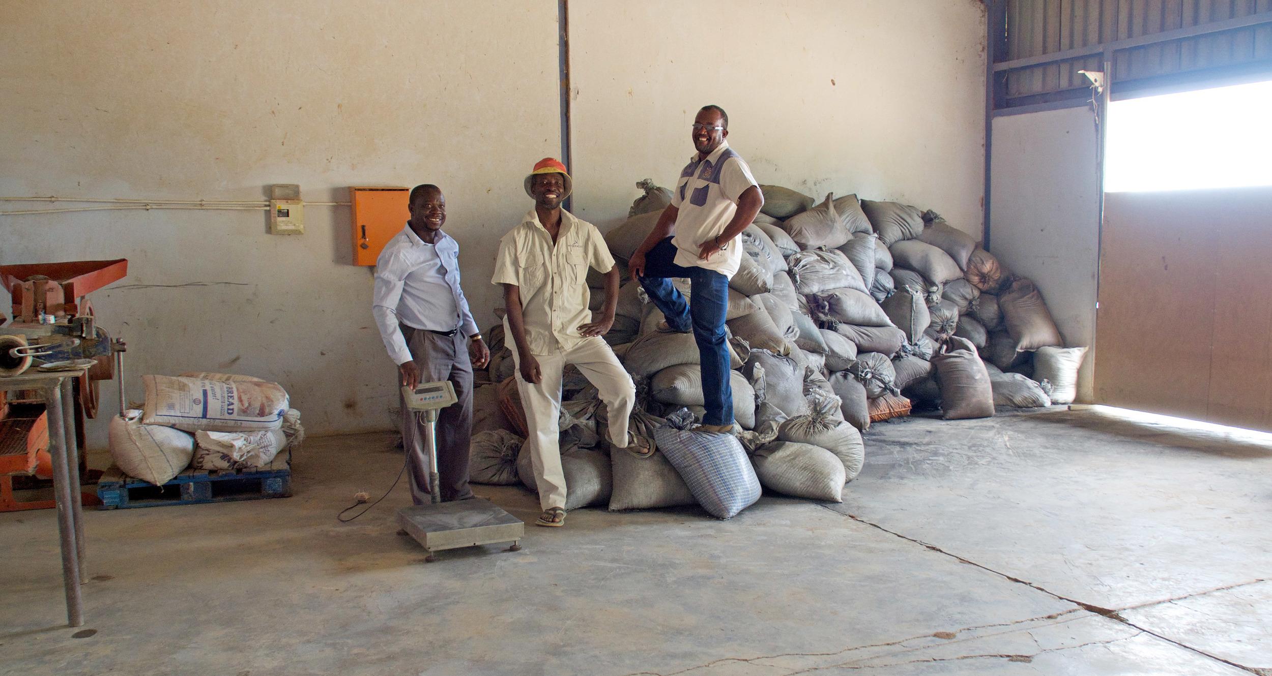 8 tonnes of biochar at Warmquelle - Wilbard, Robbin and Bennie