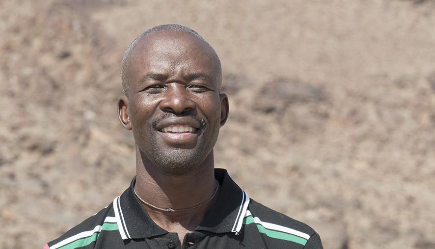 Himba community leader and guide Robbin Uatokuja