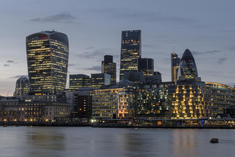 The skyline of the City of London - PHOTO: ALEXANDER J.E. BRADLEY - NIKON D7100 - 24-70MM F/2.8 @ 36MM - F/22 - 6 sec -ISO 100