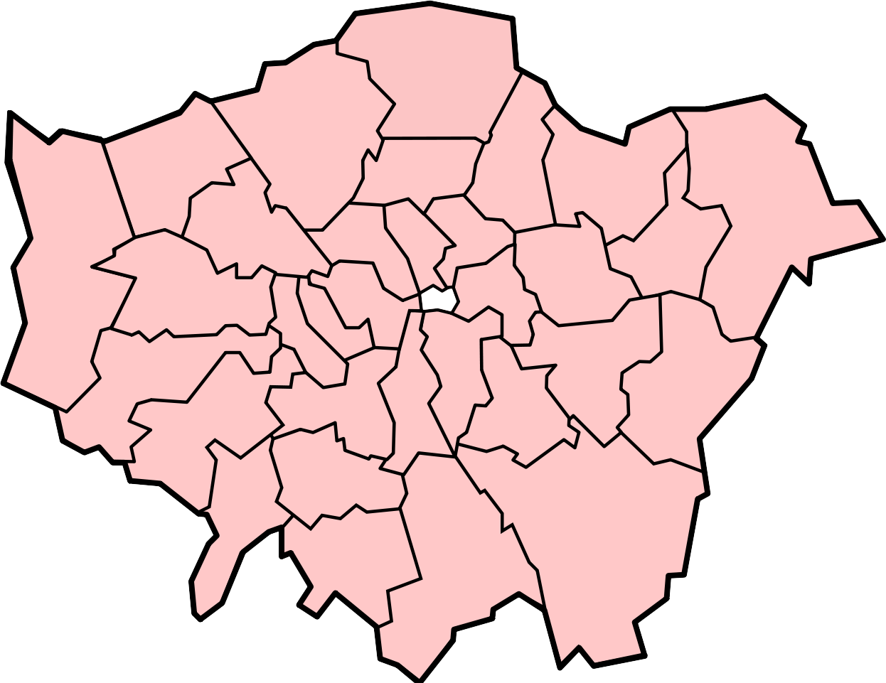 Greater London and it's 32 boughs.