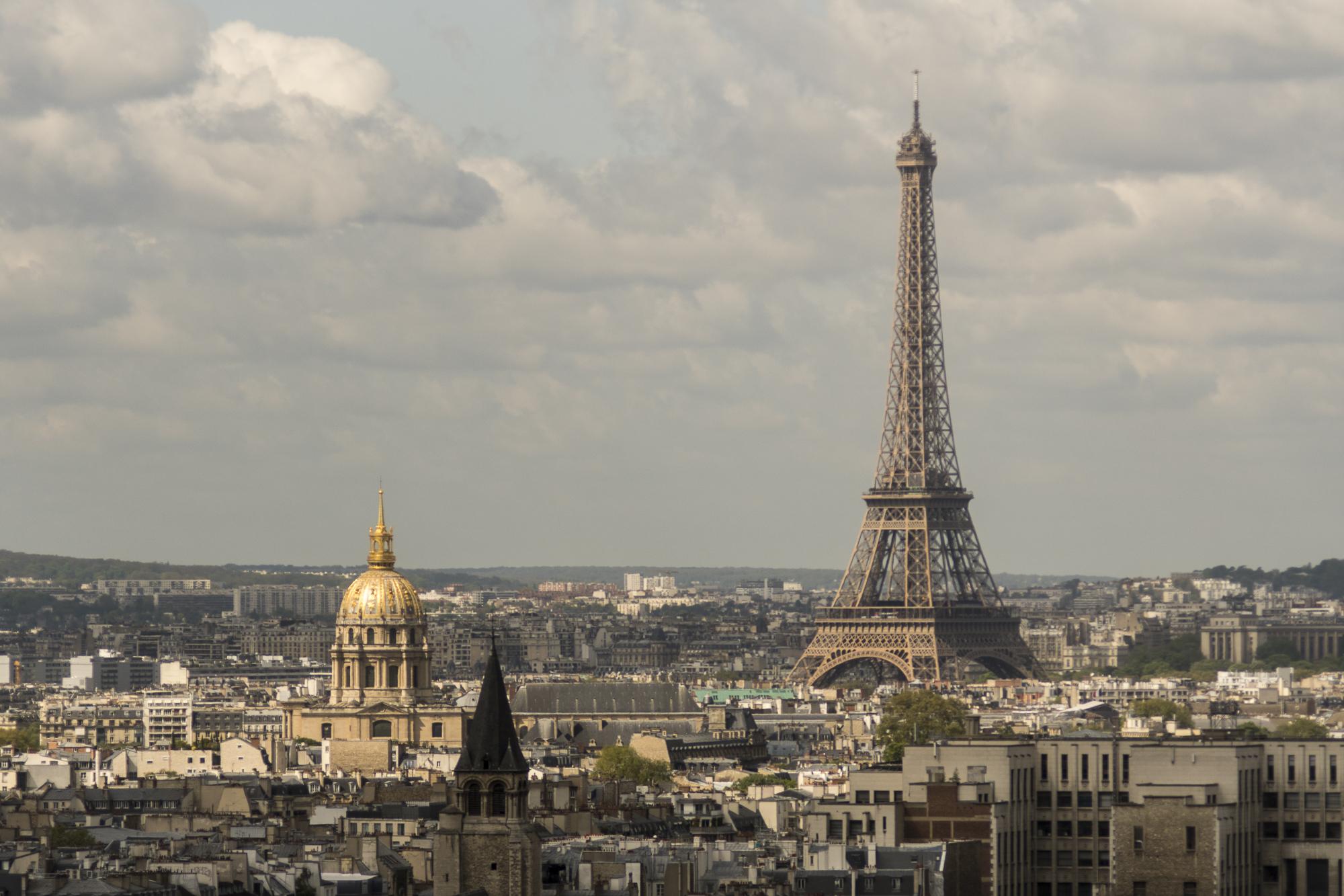 Eiffel Tower From the Belfry  PHOTOGRAPHY : ALEXANDER J.E. BRADLEY •Nikon D500 • AF Zoom-NIKKOR 80-200mm f/2.8D ED • 145mM • F2.8 • 1/6400 •ISO 100