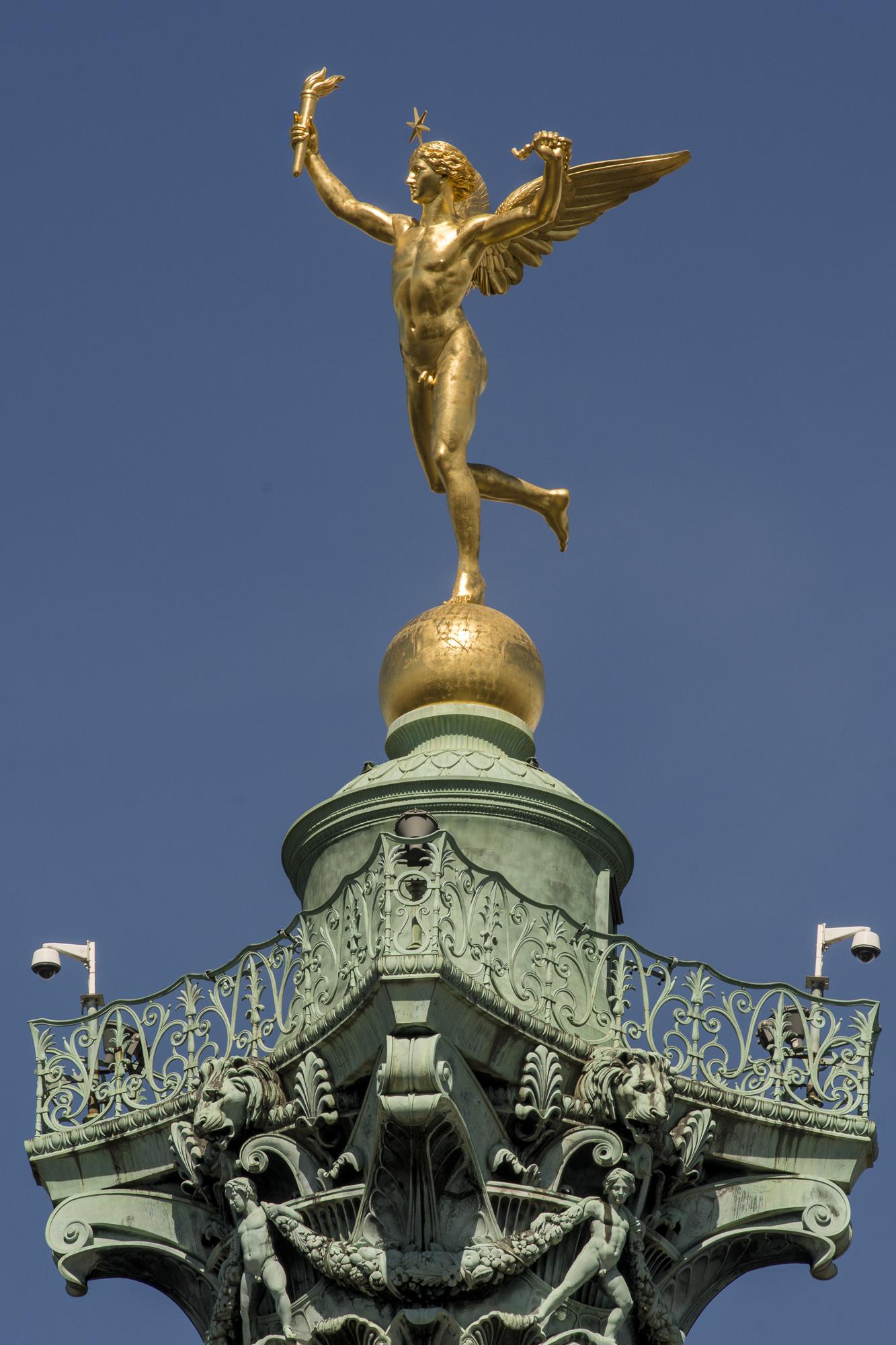 The Spirit of FreedoM - Place de la Bastille  PHOTOGRAPHY: ALEXANDER J.E. BRADLEY • NIKON D7100 • AF NIKKOR 80-200mm f/2.8 D ED @ 200MM • F/16 • 1/250 • ISO 100