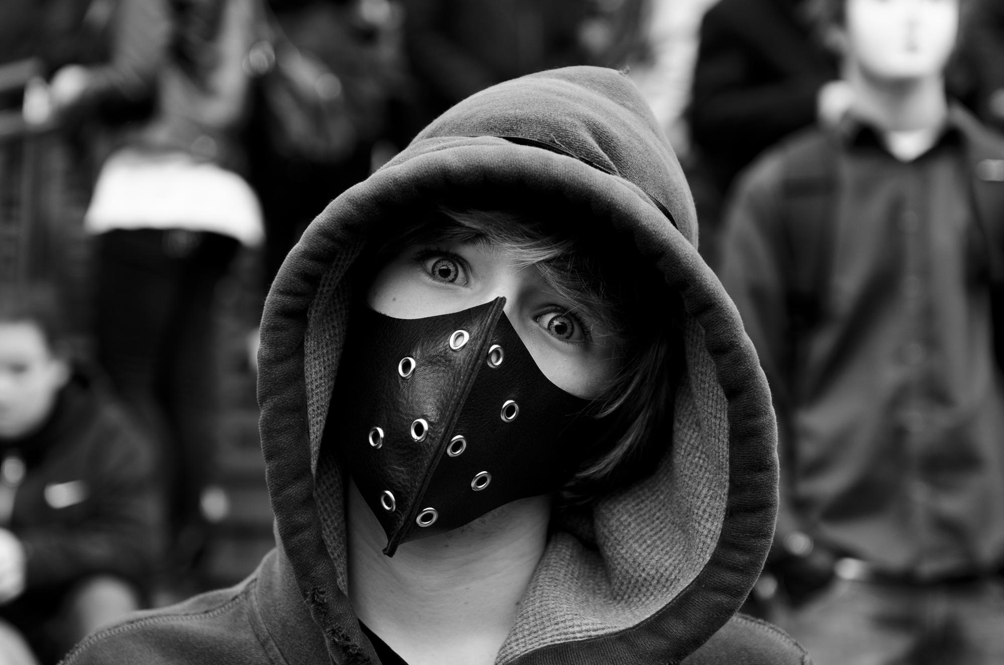 Rally against the ACTA - Bastille  PHOTOGRAPHY: ALEXANDER J.E. BRADLEY • NIKON D7000 • AF-S NIKKOR 24-70mm f/2.8G ED @ 24mm • F/2.8 • 1/320 • ISO 320