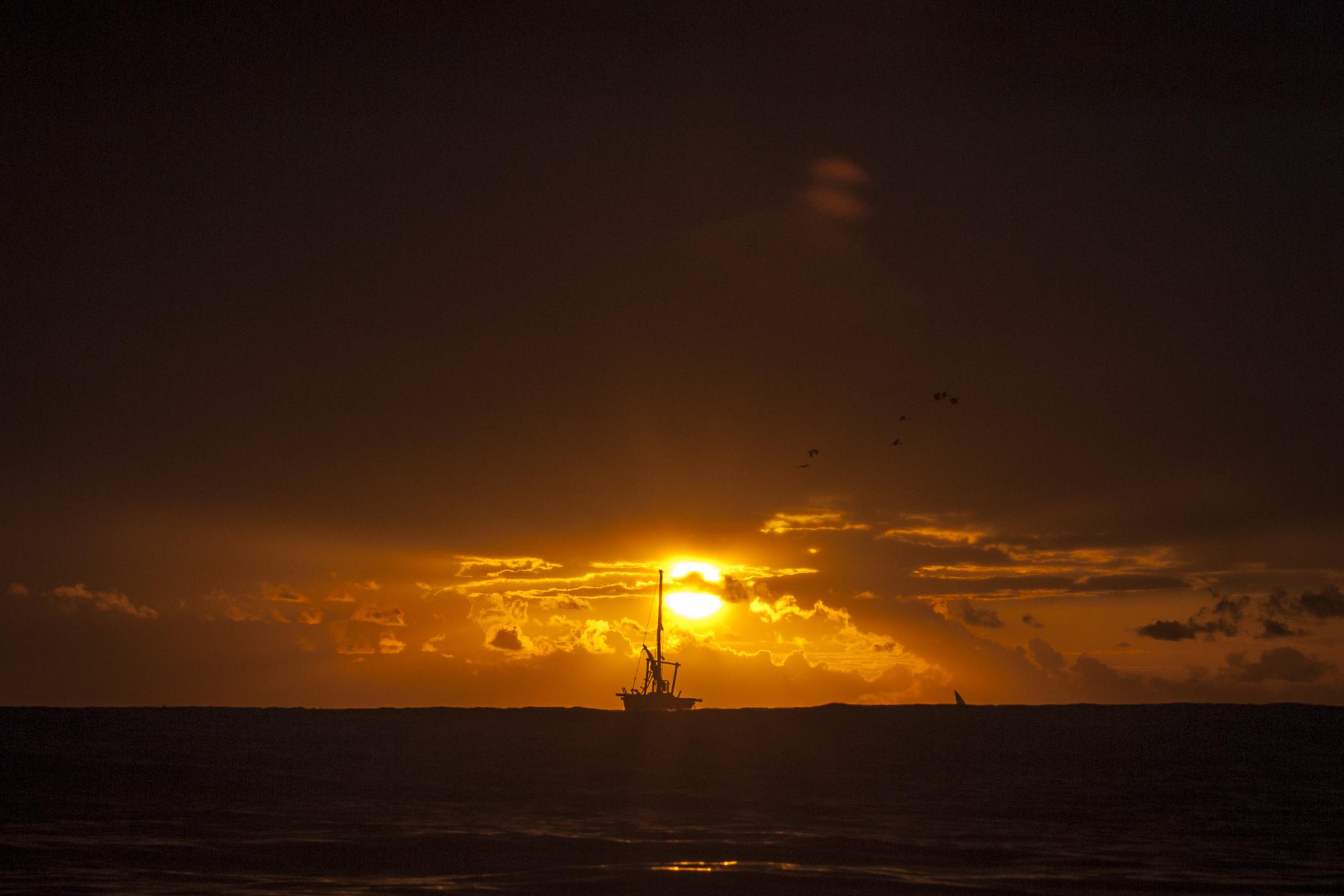 Dhow Sunrise - Dar es Salaam, Tanzania  PHOTOGRAPHY: ALEXANDER J.E. BRADLEY •NIKON D200 • Nikon AF Zoom-Nikkor 35-70mm Ƒ/2.8D @ 70MM • Ƒ/11 • 1/500 •ISO 100