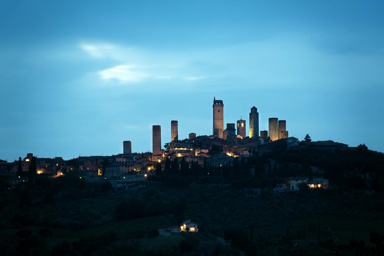 View of San Gimignano  PHOTO: ANNA VOLPI • NIKON D750 • 70-210mm Ƒ/4-5.6 @ 210mm • Ƒ/14 • 20sec • ISO 100