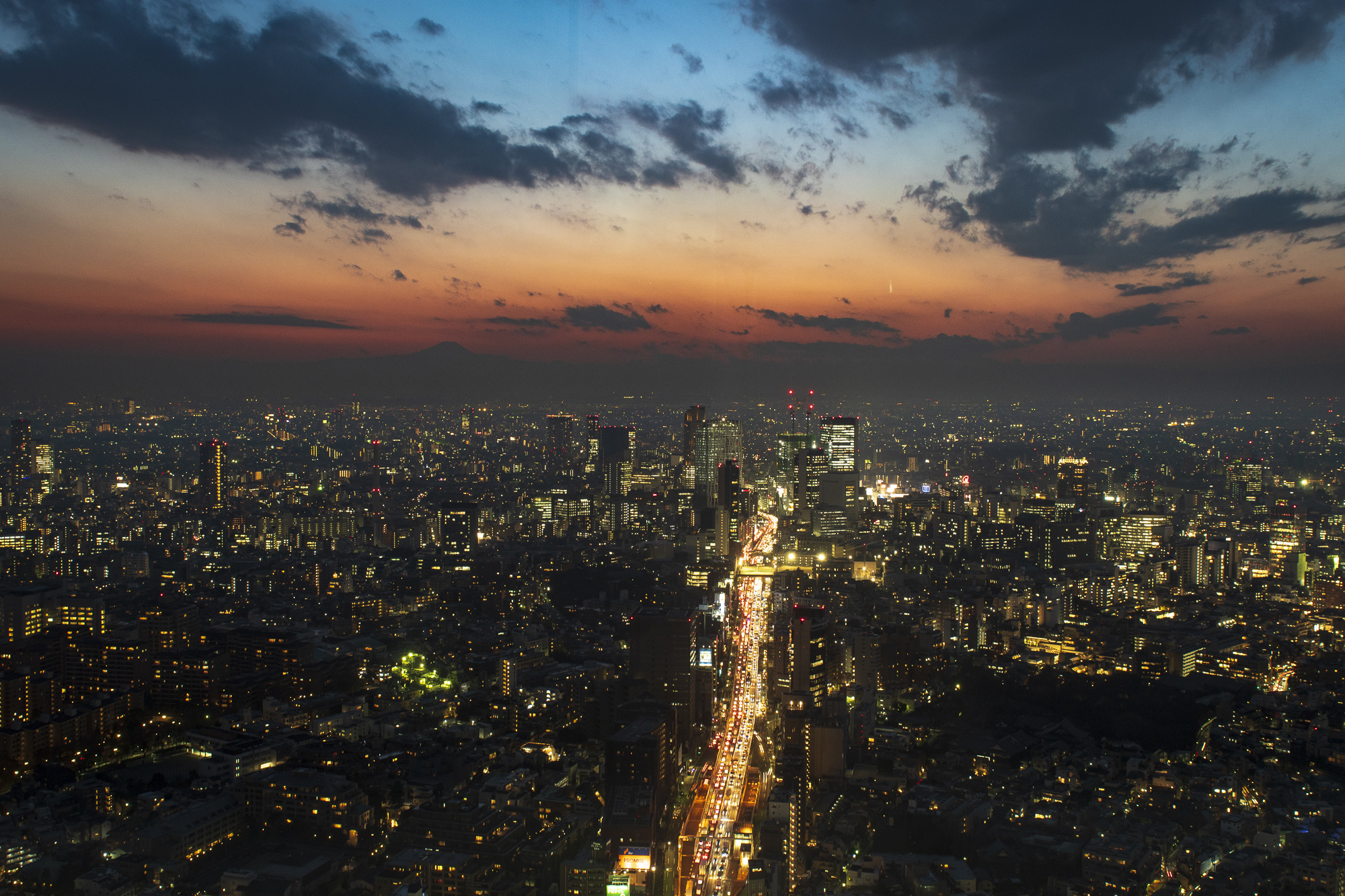 Tokyo from the Mori Tower  PHOTOGRAPHY: ALEXANDER J.E. BRADLEY • NIKON D500 • AF-S NIKKOR 24-70MM Ƒ/2.8G ED @ 24MM • Ƒ/8 • 1.6 sec • ISO 100