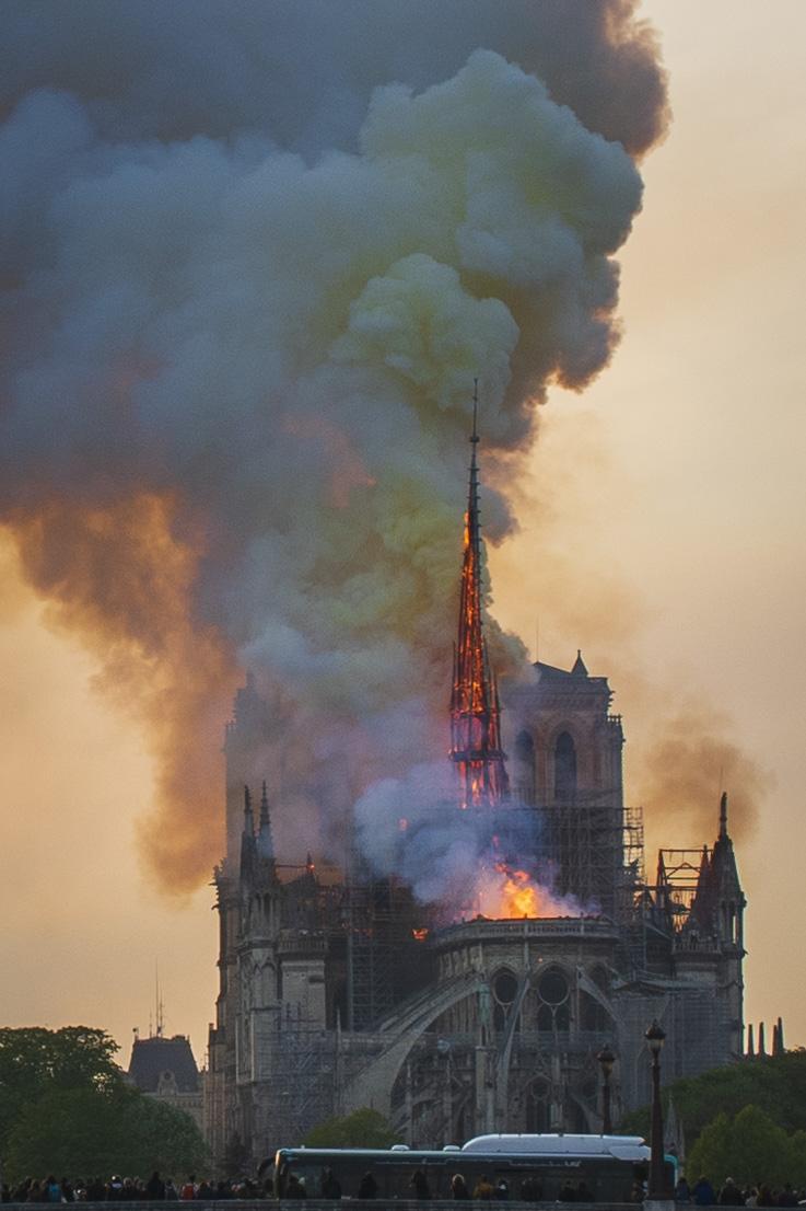 Notre Dame Fire 15/April/2019  PHOTOGRAPHY: ALEXANDER J.E. BRADLEY • NIKON D500 • AF-S NIKKOR 24-70MM Ƒ/2.8G ED @ 24MM • Ƒ/8 • 1/125 • ISO 100