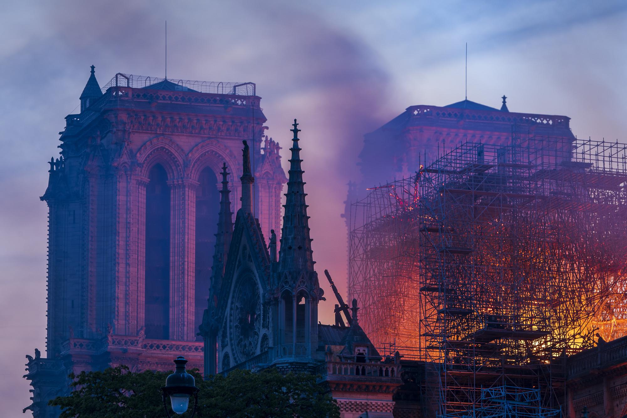 Notre Dame Fire 15/April/2019  PHOTOGRAPHY: ALEXANDER J.E. BRADLEY • NIKON D500 • AF-S NIKKOR 70-200MM Ƒ/2.8 FL ED VR @150MM • Ƒ/11 • 3 sec • ISO 50