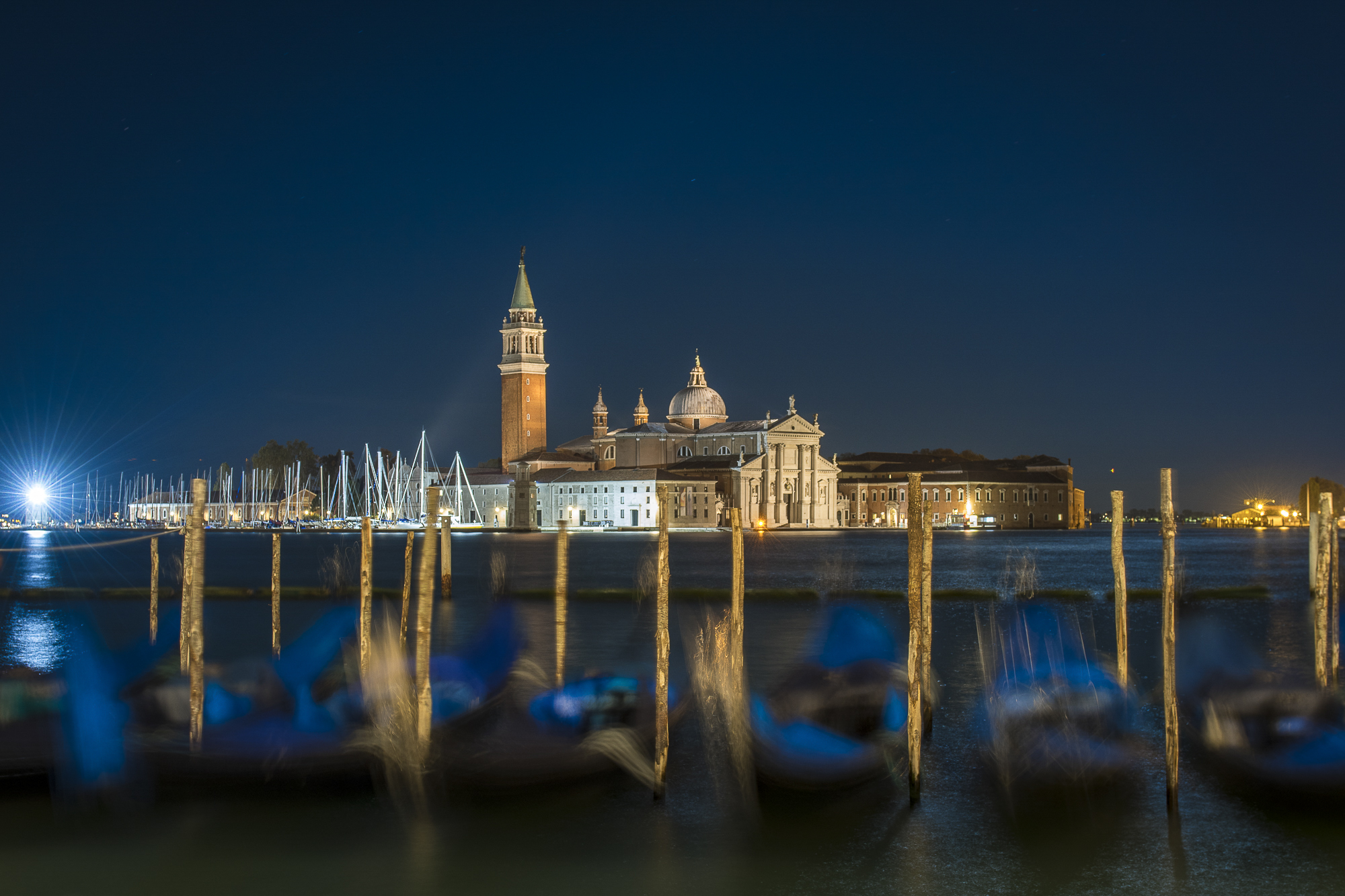 Isola de San Giorgio Maggiore from Venice  PHOTOGRAPHY: ALEXANDER J.E. BRADLEY • NIKON D500 • AF-S NIKKOR 24-70MM Ƒ/2.8G ED @ 32MM • Ƒ/5.6 • 30 SEC • ISO 100