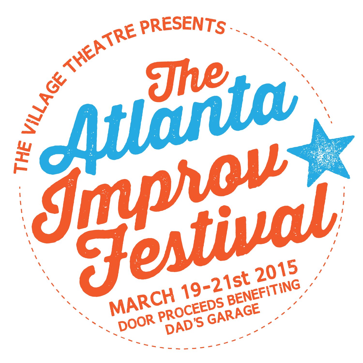 branding and logo created for the Atlanta Improv Festival