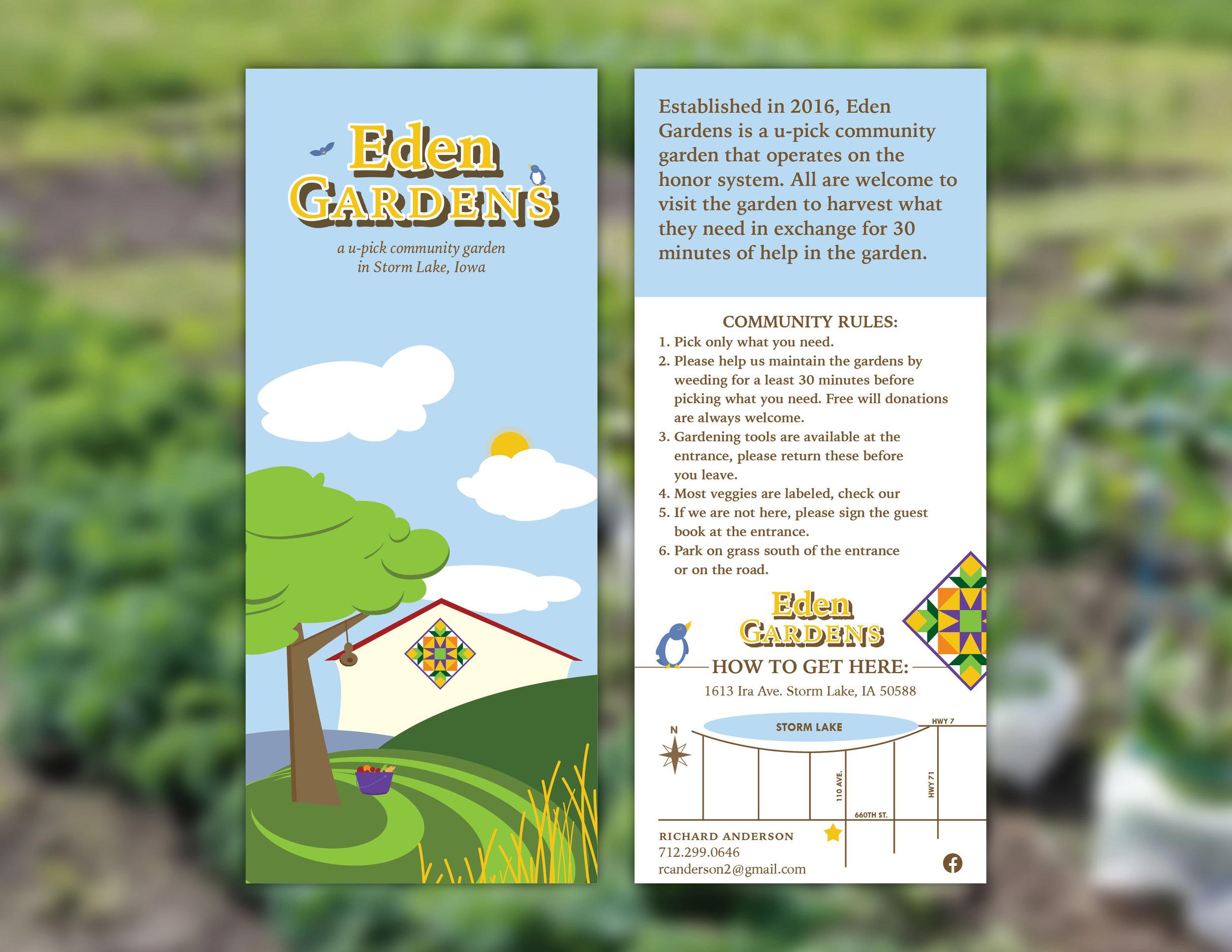 Eden Gardens Rack Card