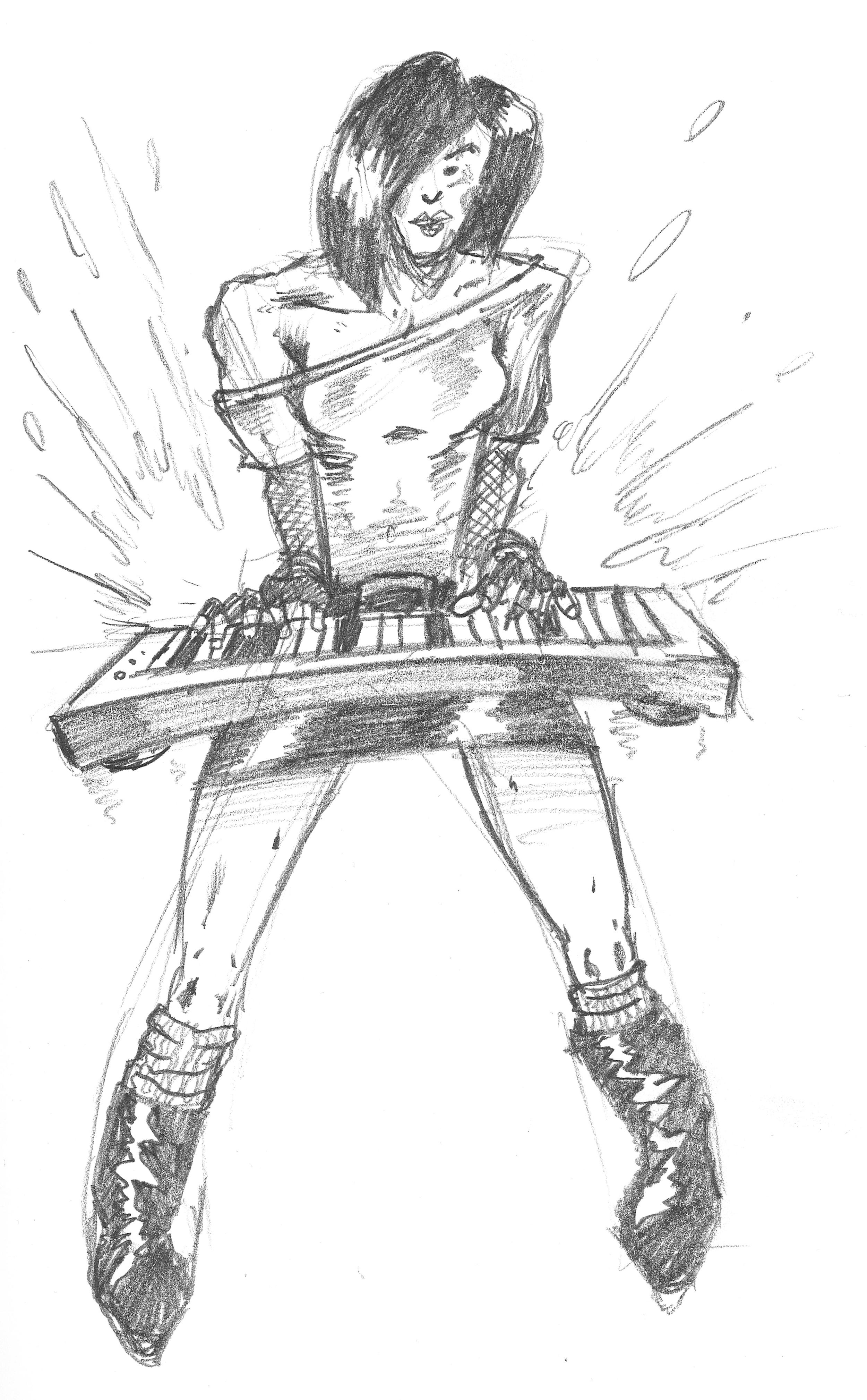 Retro Keyboard Girl