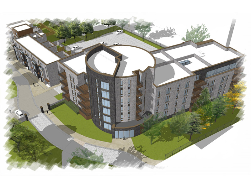 The development will deliver a total of 92 homes, including and iconic apartment building.