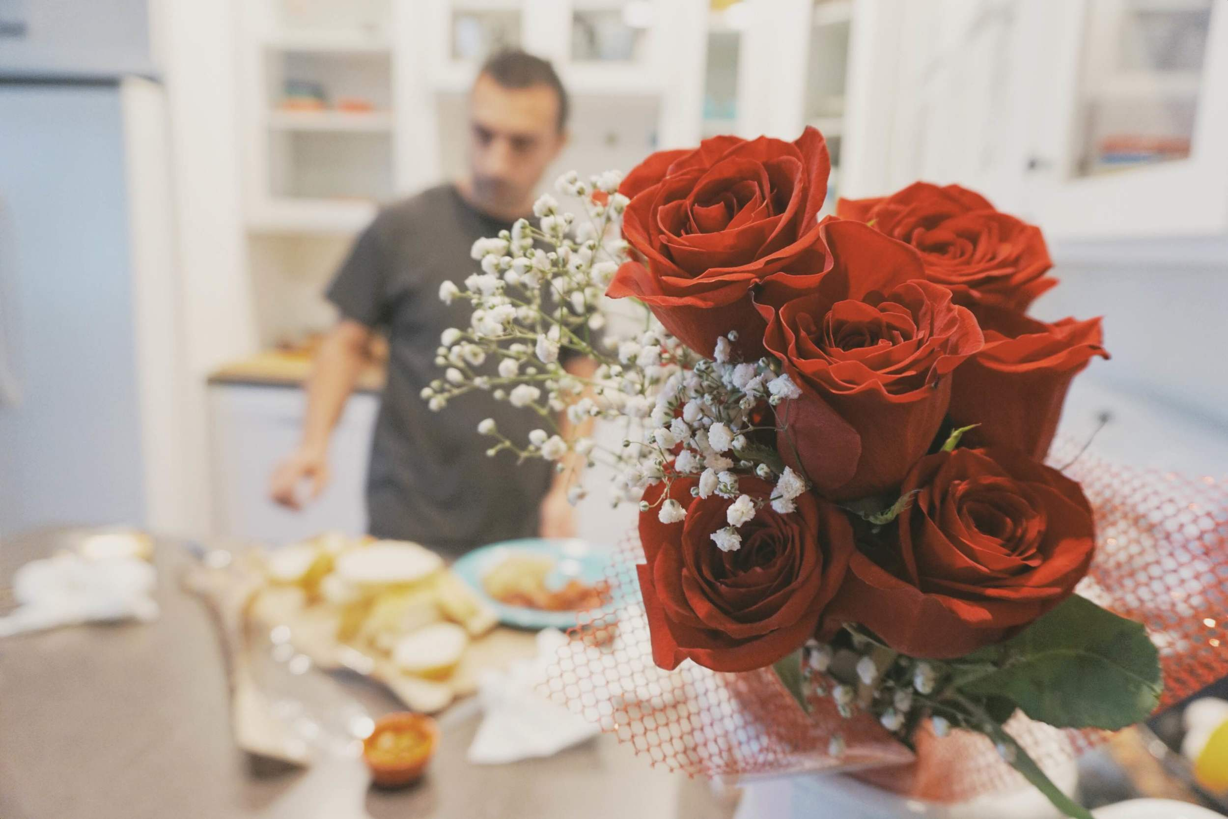 If flowers are ever involved, red roses have always been our tradition.
