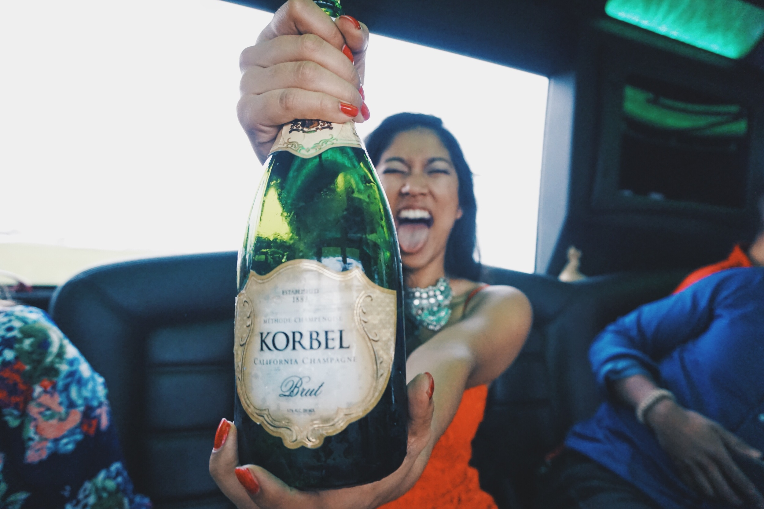 We poppin' champagne like we won a championship game! She had those mimosas ready for us bright and early!