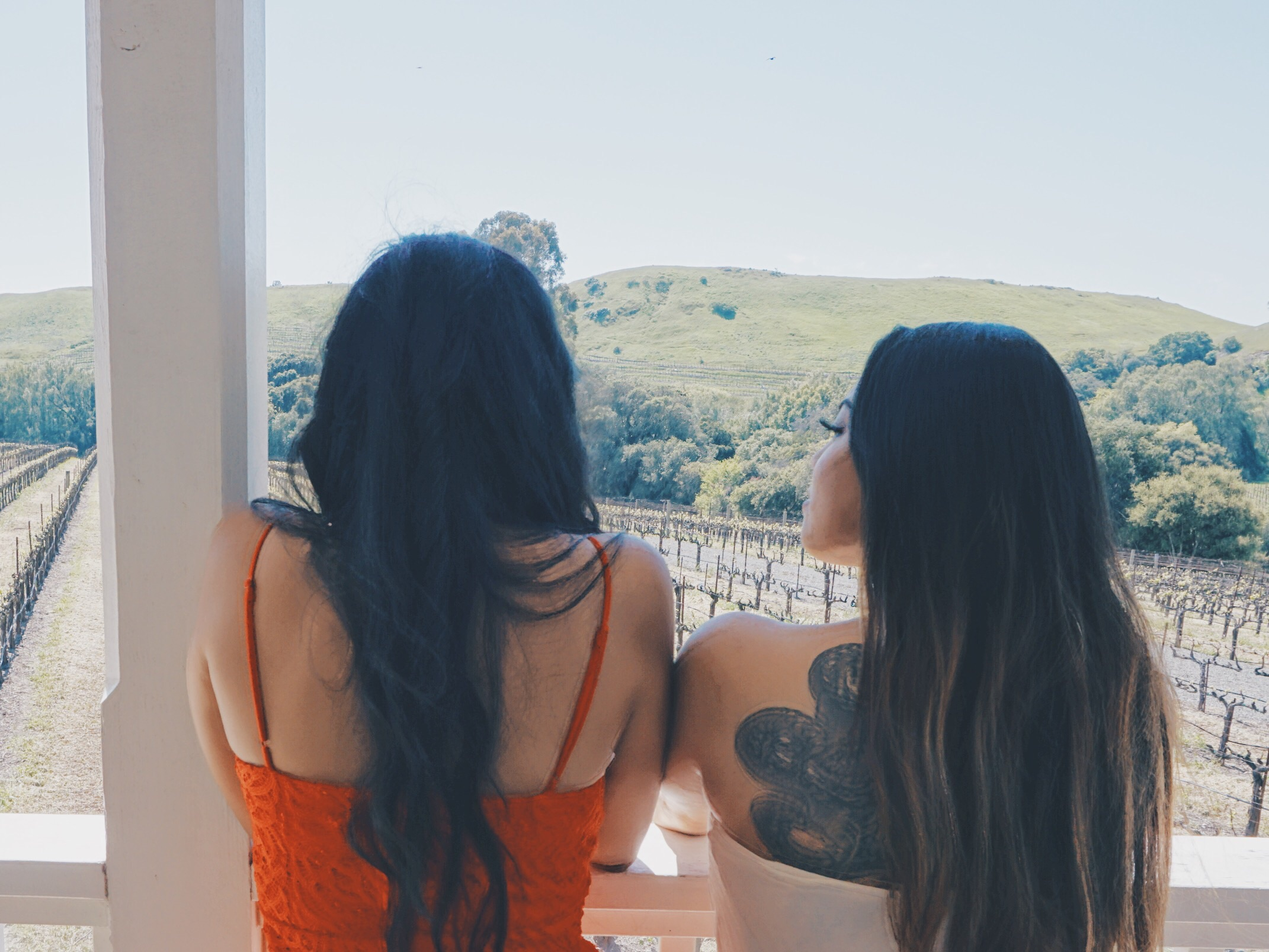 Enjoying the view with Anjuli.