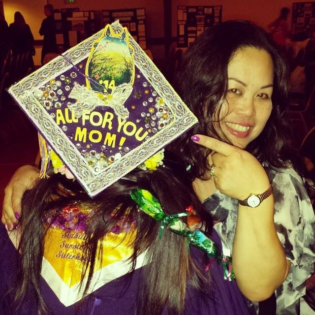 Coincidently, I chose to attend San Francisco State University, the same college she had graduated from in 1990. I am a second generation Gator Alumnae, class of 2014!  Fun fact: my college ring is actually her college ring passed down to me.