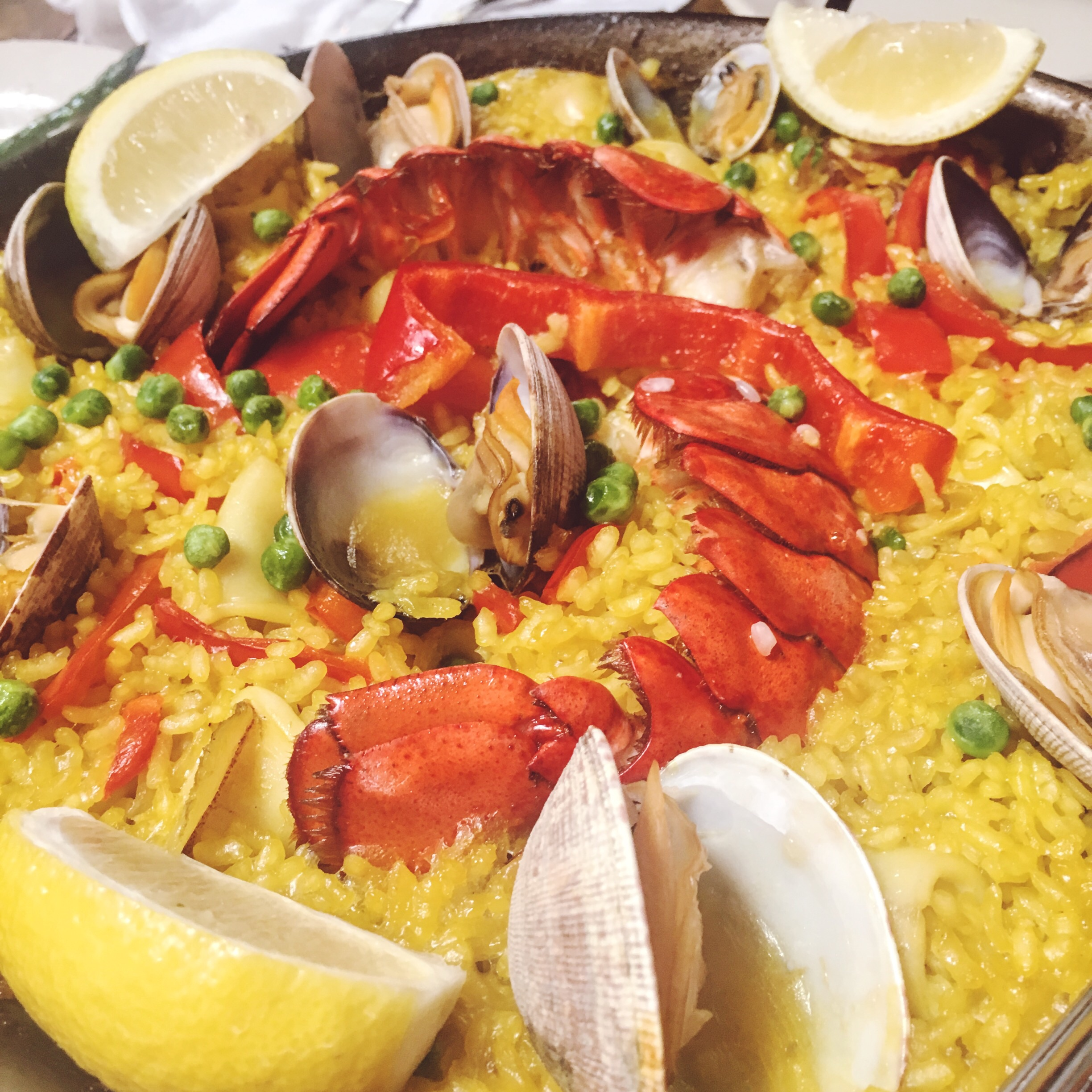 Paella de Longosta (Lobster paella)  up close and personal... in all it's glory.