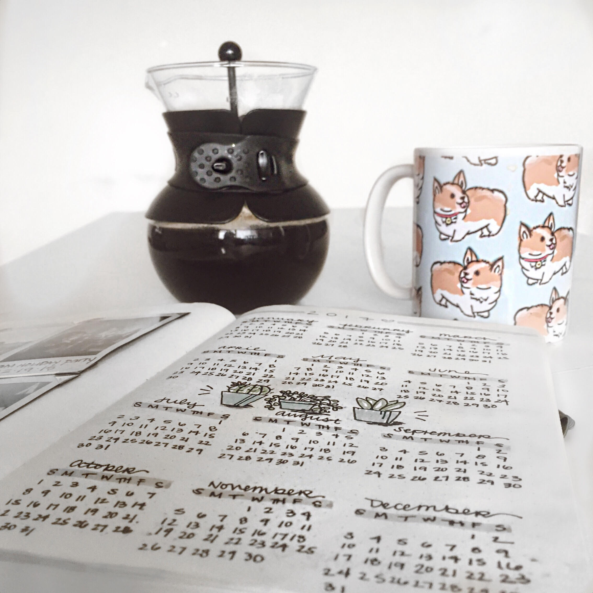 Grab a cup of coffee, your favorite mug and planner and plan out your year!