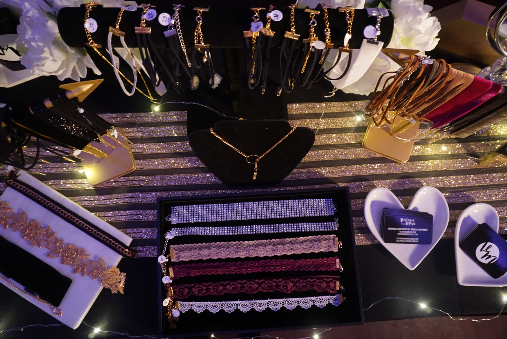 All the chokers we had at the beginning of the night. We sold over 20 chokers!