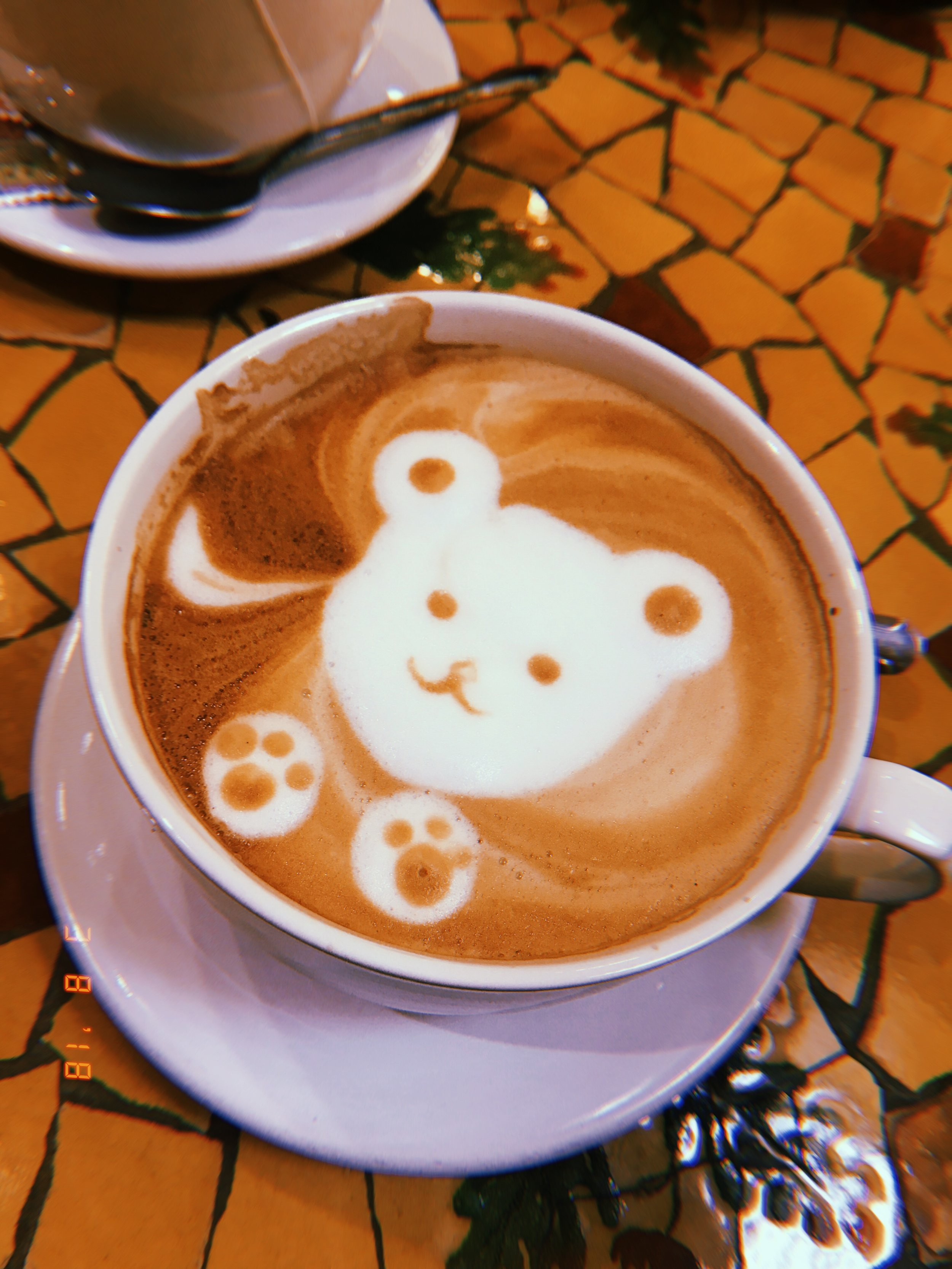 Adorable latte art courtesy of Cocola Bakery in Stonestown Galleria.
