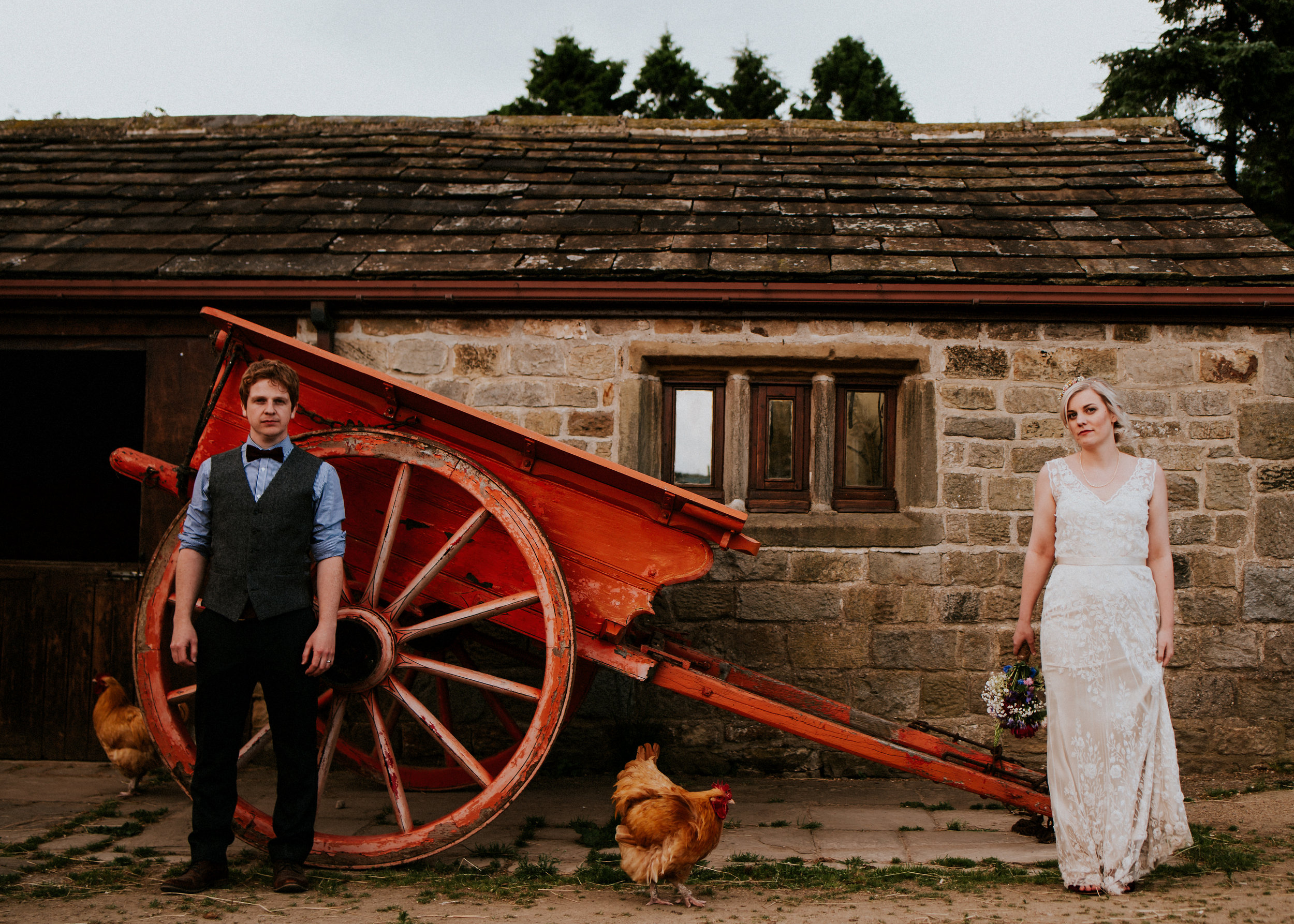 From an epically beautiful forest ceremony to the colourful rustic charm of this Yorkshire farm. This Lineham Farm Leeds wedding is filled with Summer spectacle from morning to night