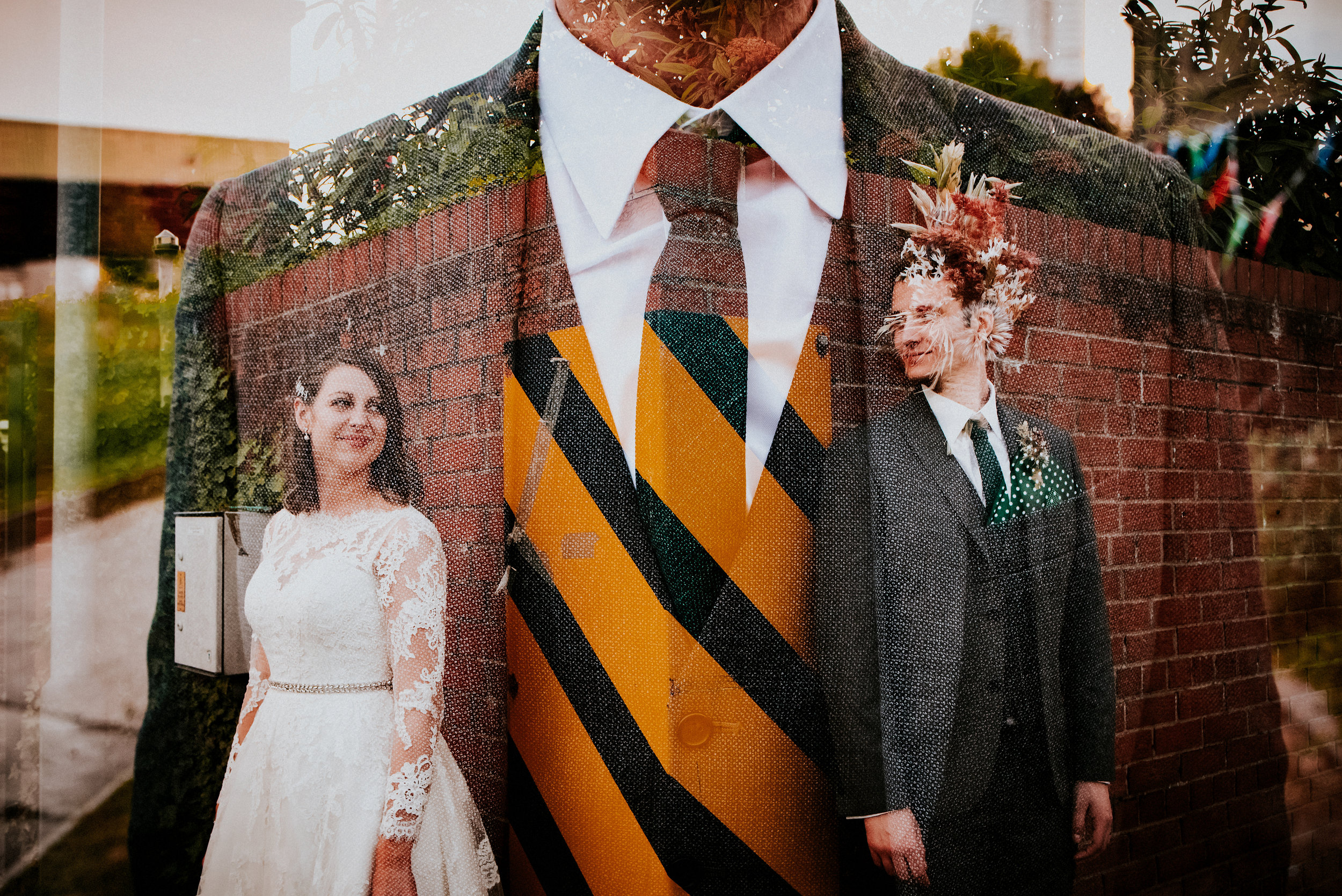 Bold colours, Vintage vibes, Alternative urban portraits & epic sparkler exits in this Leeds city centre wedding at the Tetley.