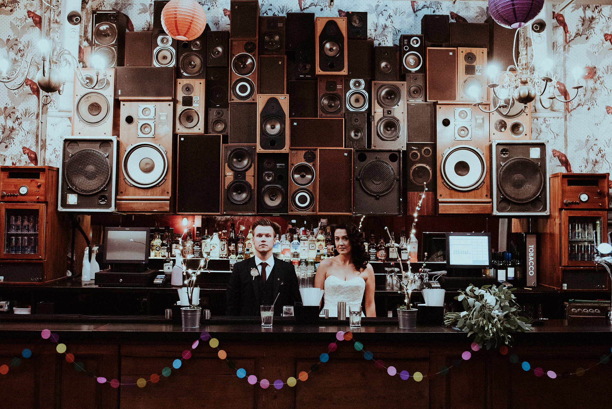 Colour & urban awesomeness collides in this Manchester City Centre wedding at the Deaf Institute.