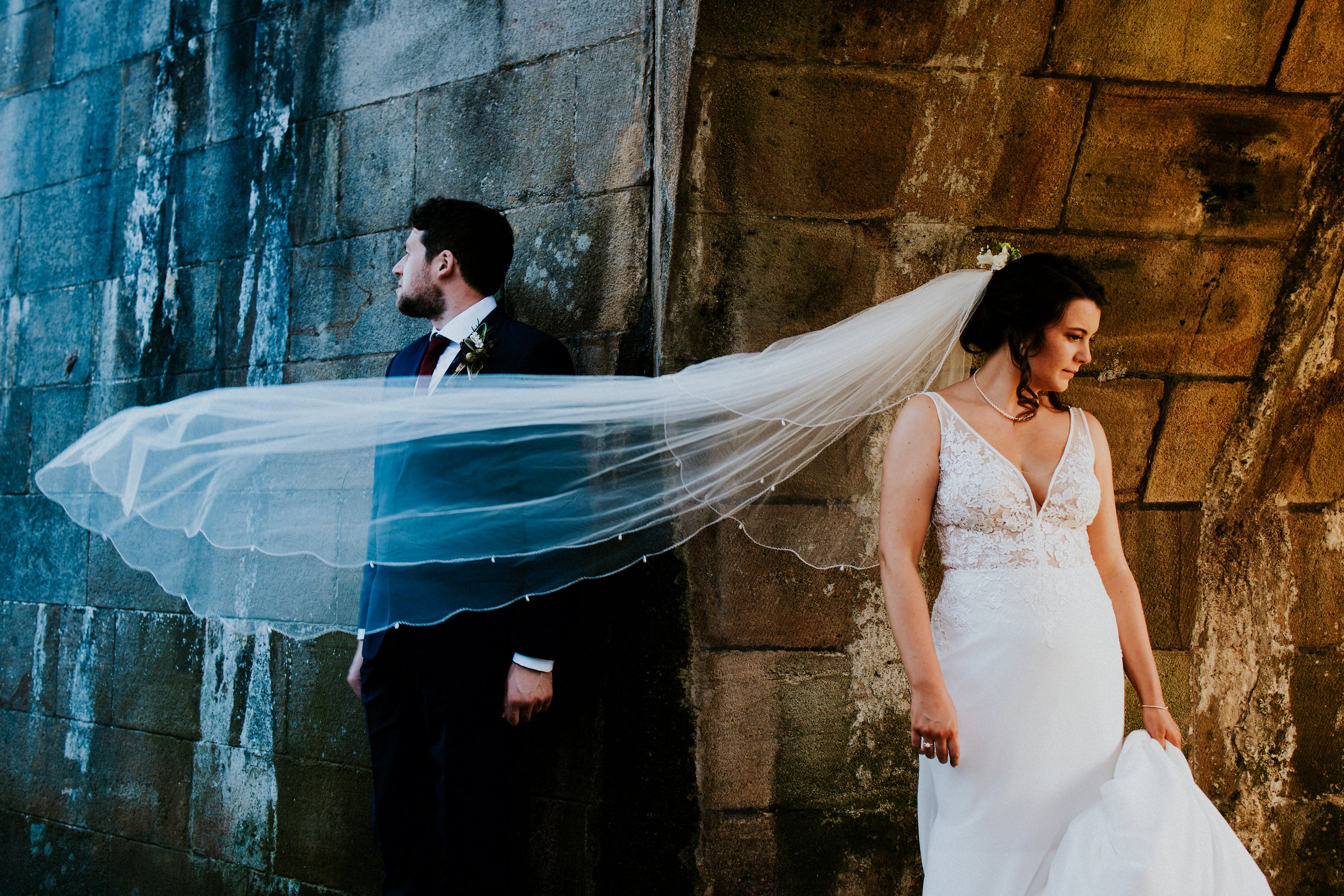 Into the Yorkshire Dales in this colourful Summer village wedding with home made inspiration & epic portraits at Burnsall Village Hall.