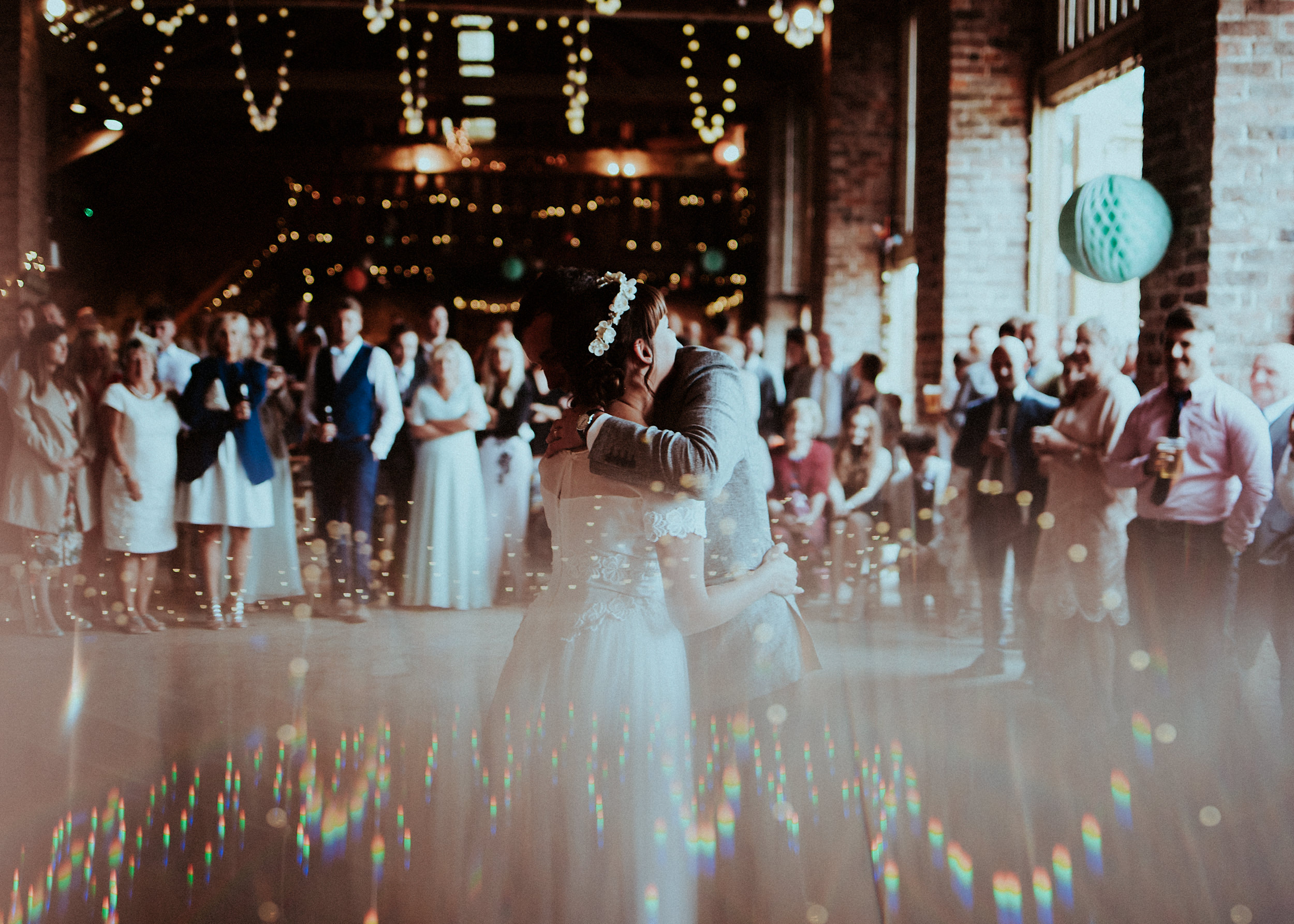With a dress from Glory Days Vintage & The awesome Camp Katur. This magical wedding is filled with fairy lit first dances, a beautiful bride & groom. & enough badassery to feature on Rock My Wedding.