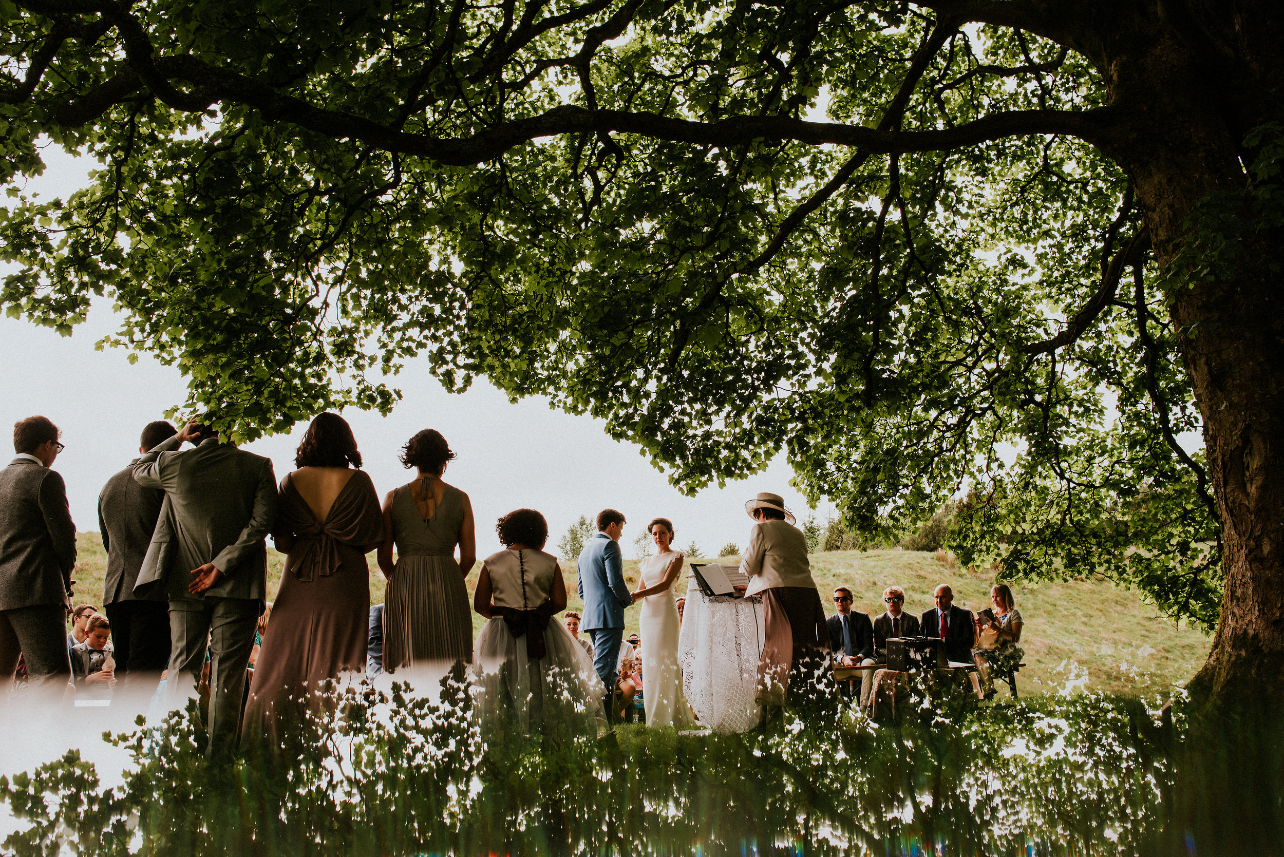 Epic Yorkshire Dales vistas, Wild Woodlands, Hand made details & an outdoor alternative wedding ceremony underneath a tree. Get ready to be truly mesmerised by this magical  Cotterdale  wedding.