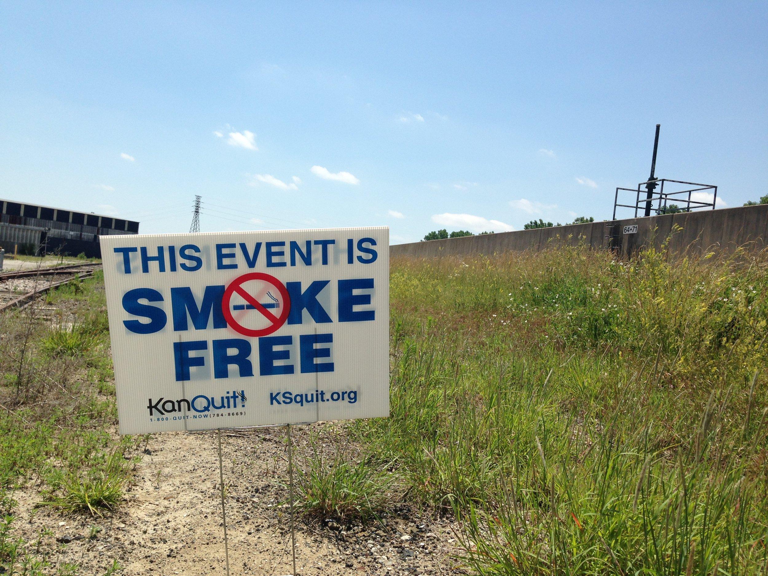 Smoke free event sign.JPG