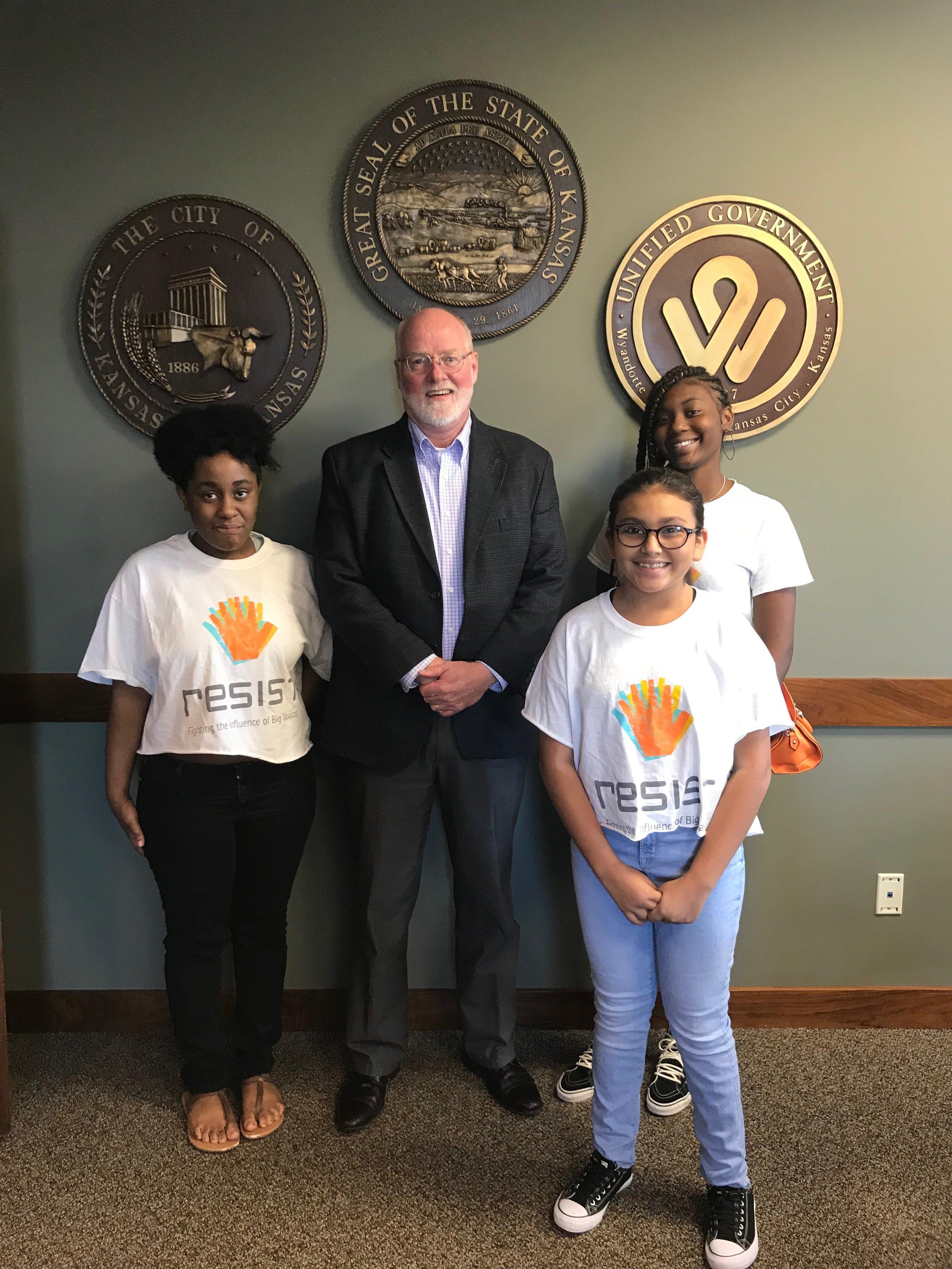 Resist members met with Mayor Alvey - Summer 2018