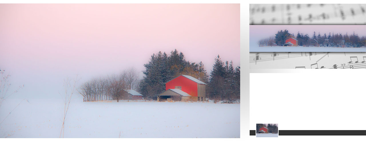 Graphic set 0008  winter farm frosty soft
