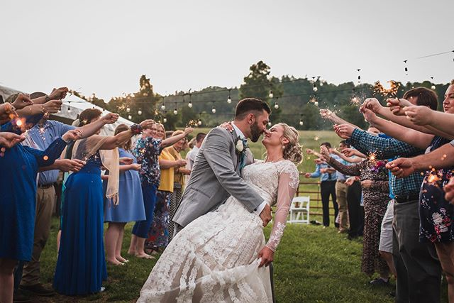 "My ""work week"" technically begins at the start of the weekend, but I feel this shot from the Baker wedding is the perfect representation for Friday! 💗"