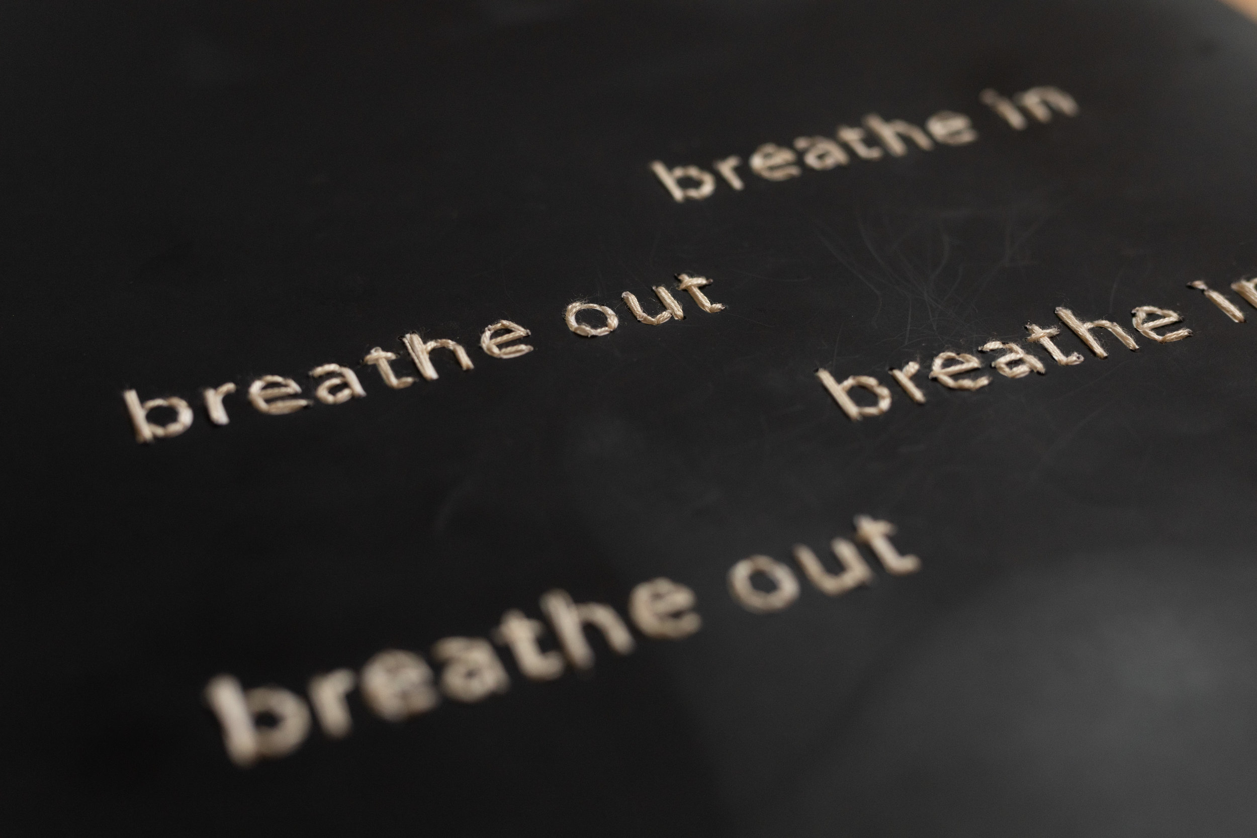 Detail of Breathe, embroidery on archival inkjet print