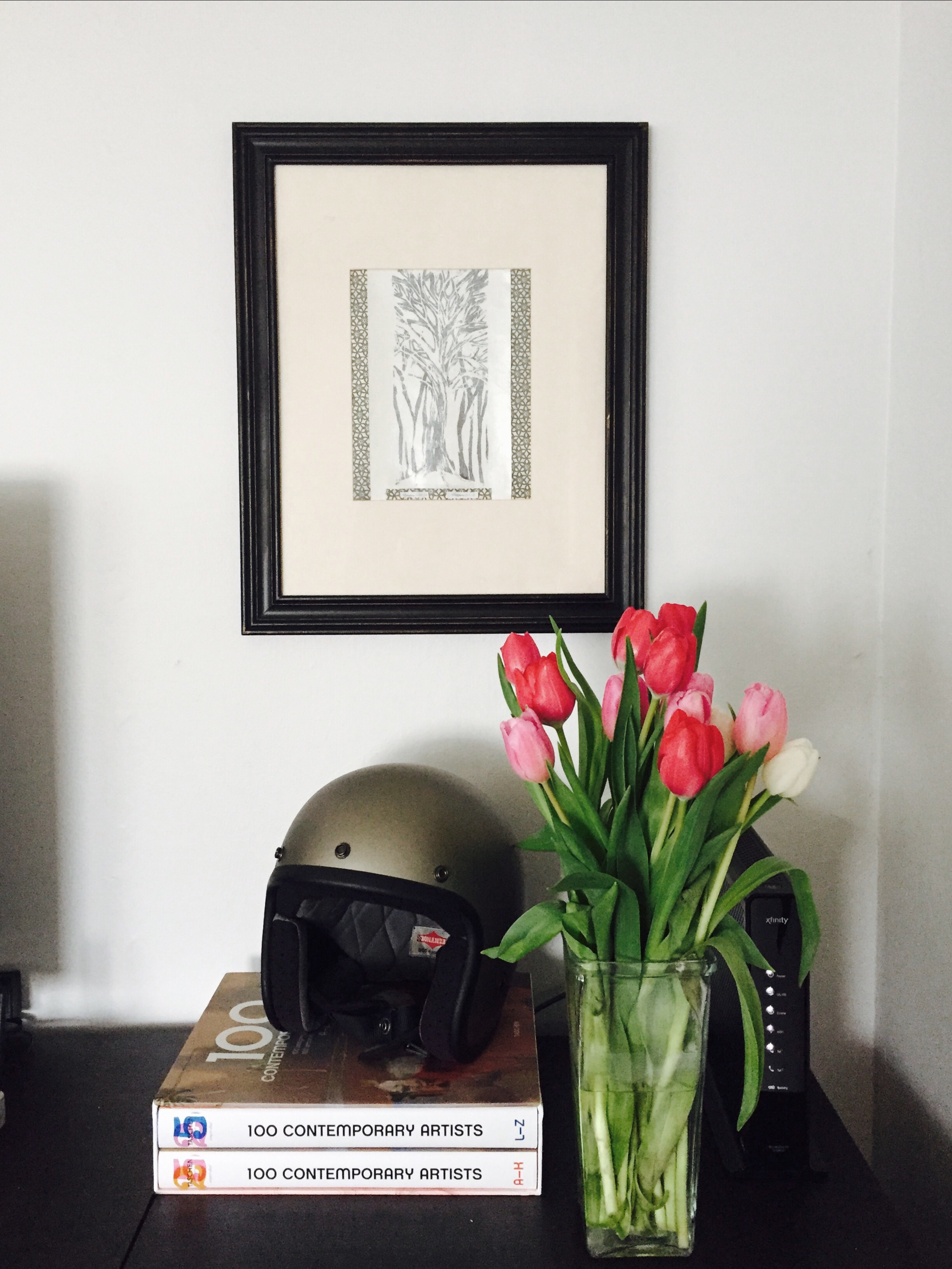 Beautiful tulips from my parents. There are few things more lovely than fresh flowers.