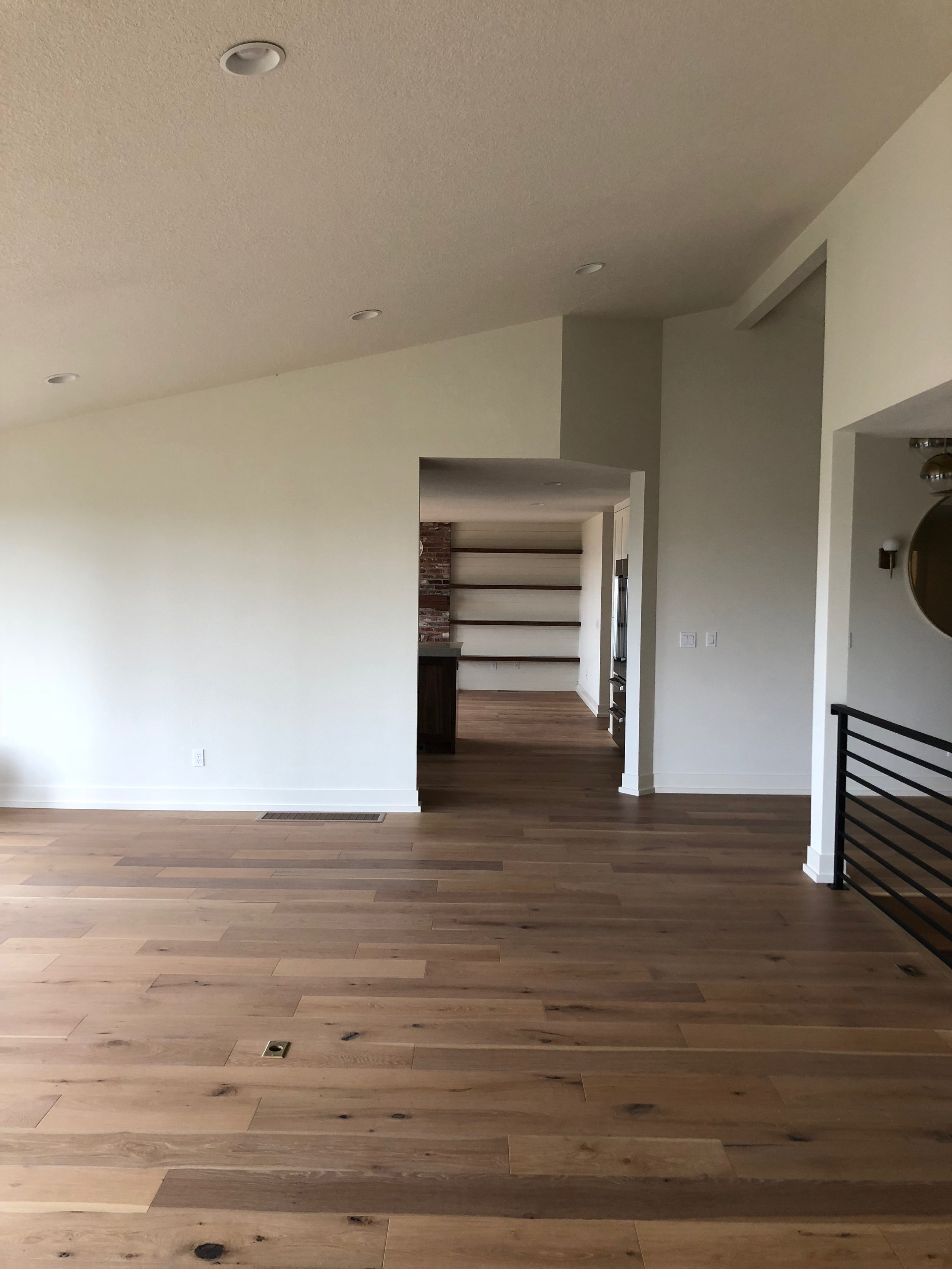 AFTER // WHITE OAK Floors through out the house!