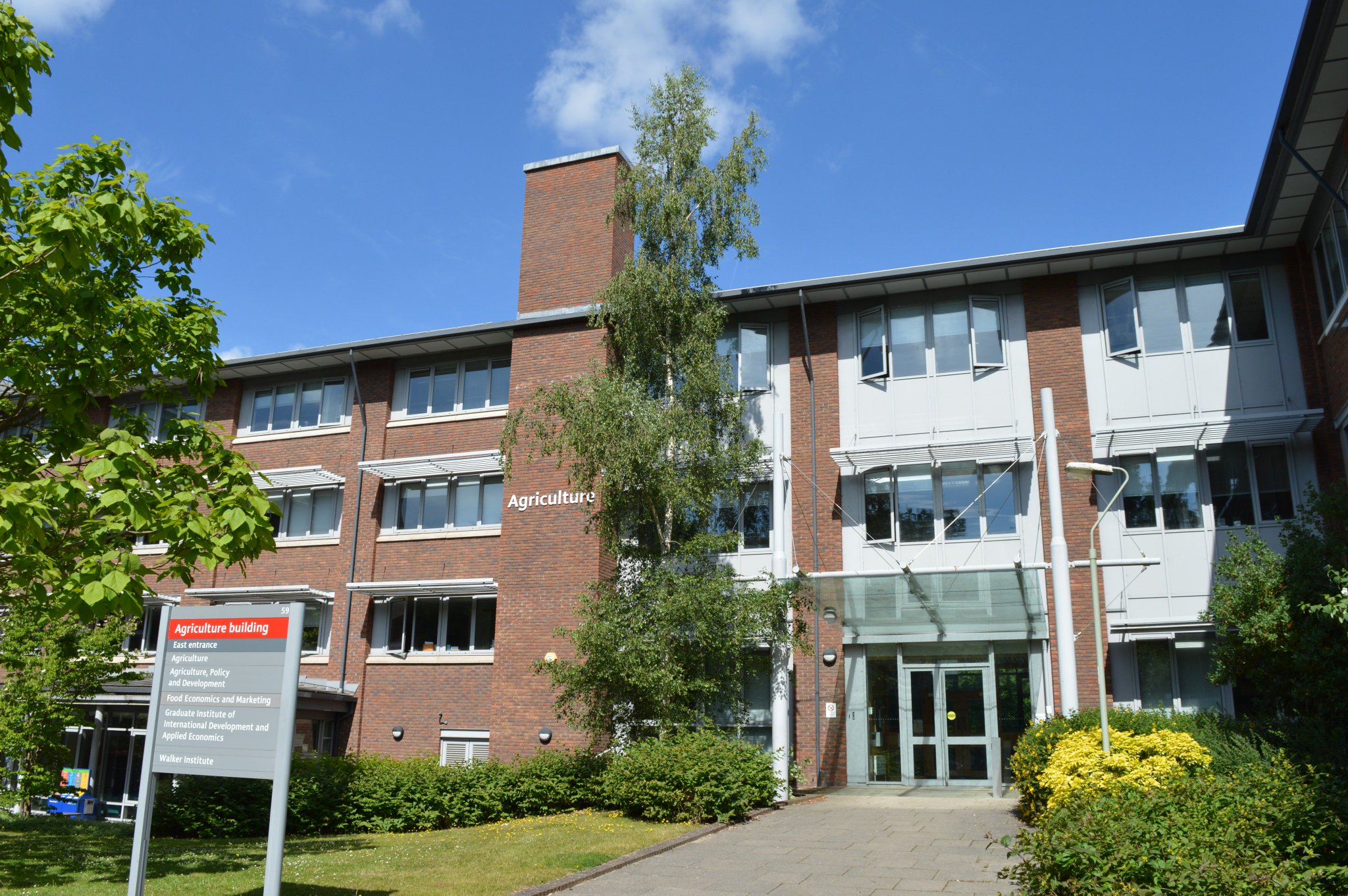 The School of Agriculture, Policy and Development at the University of Reading. The University of Reading is the most highly ranked UK institution for agriculture. It is in the top 1% worldwide.