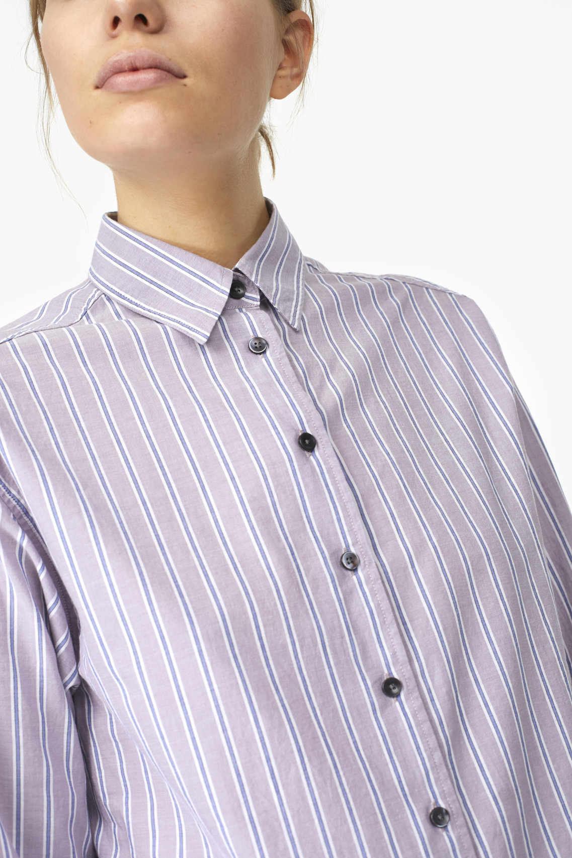 Closed Striped Shirt Blouse
