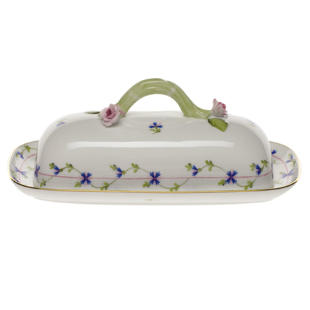 Blue Garland Butter Dish